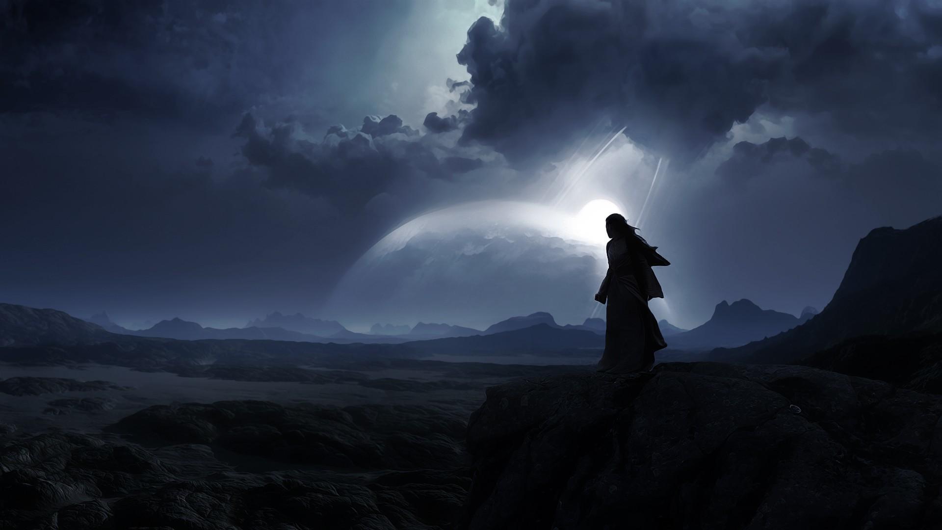 alien planet landscape photo – 2