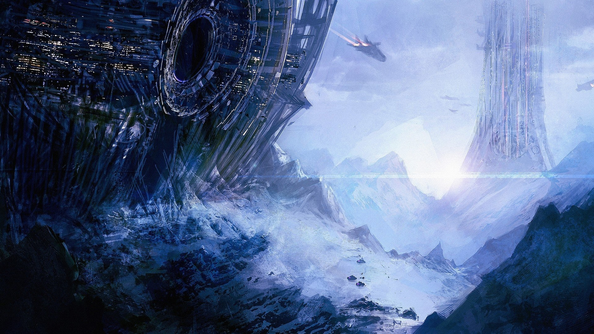 Artwork Spaceships Planets Concept Art Fantasy Space