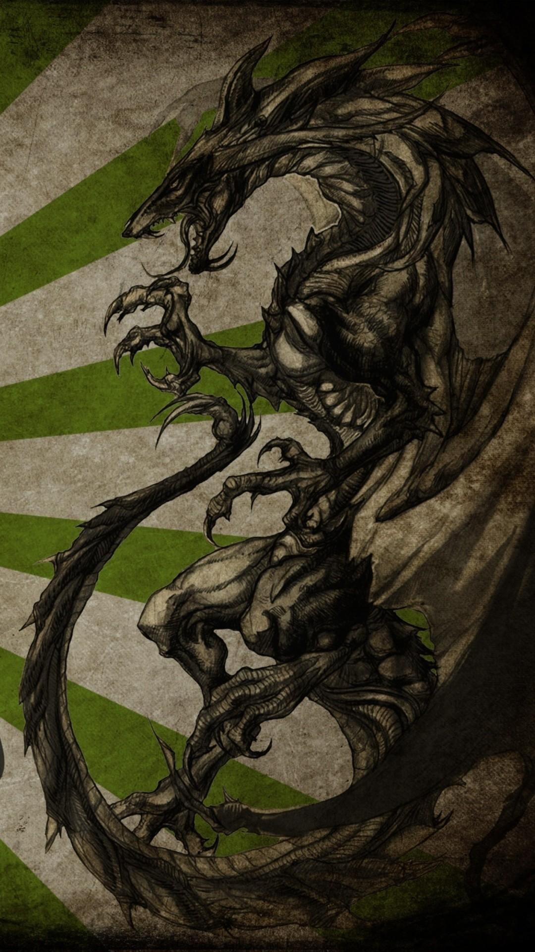 Dragon Kanji or Taito in Japanese 1080×1920.