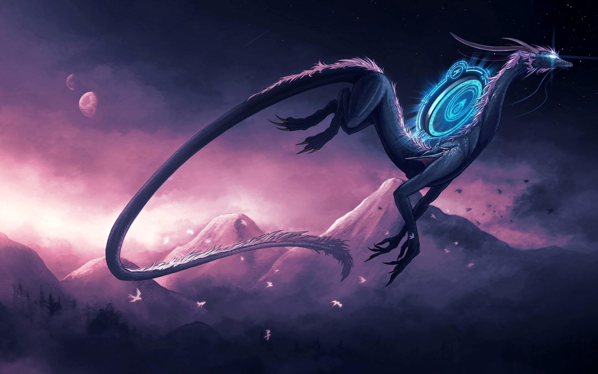 creative furious dragon wallpaper