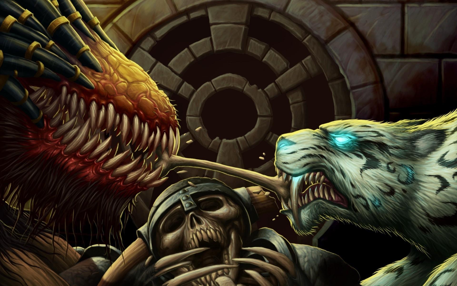 Fantasy monster creature tiger dragon wallpaper     28558    WallpaperUP