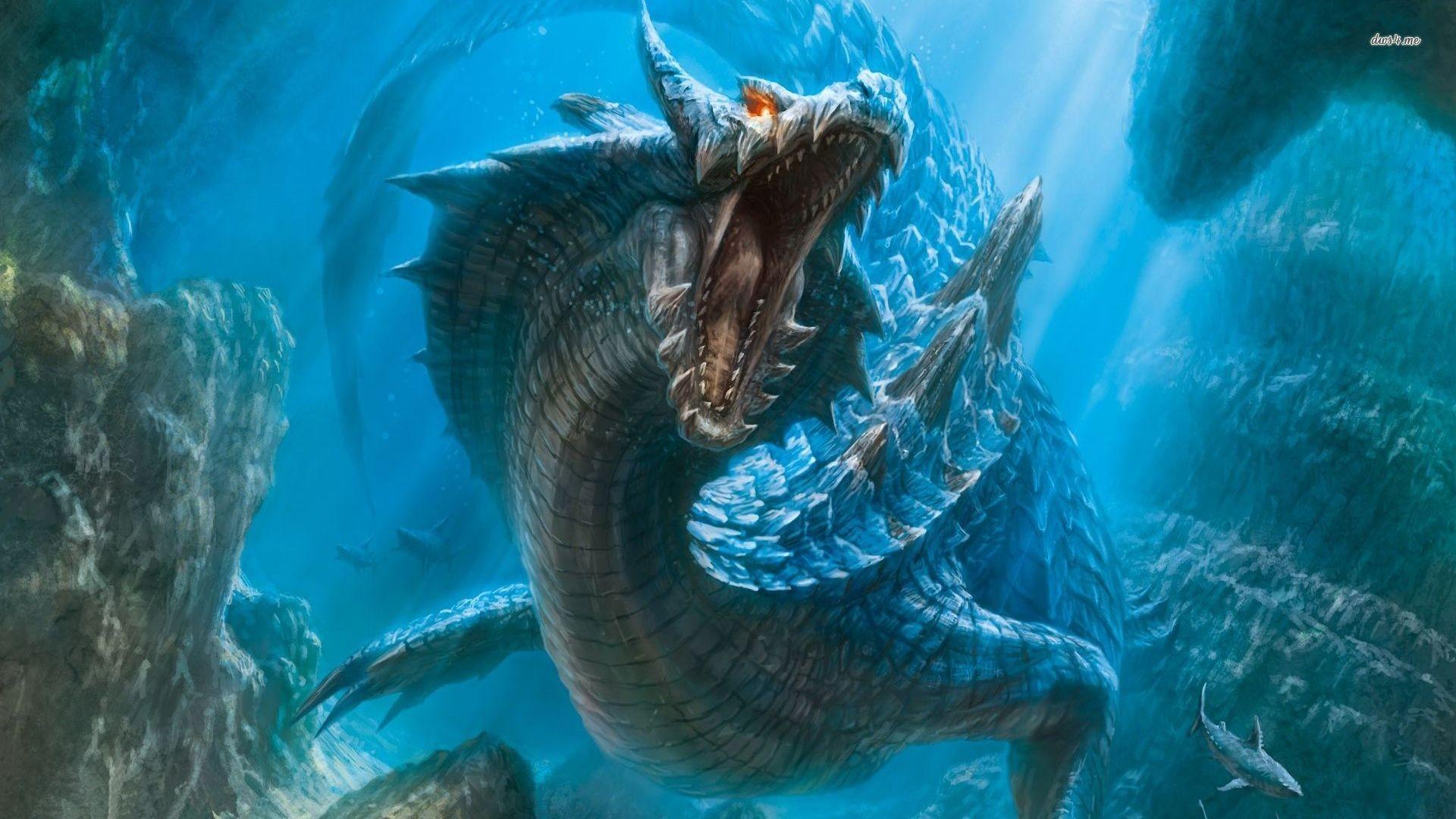 Sea dragon wallpaper Japanese Dragon Shark