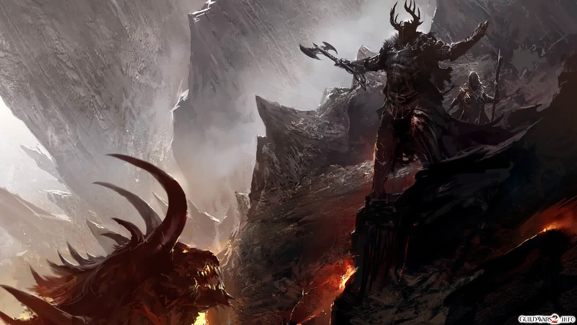 Guild Wars 2 Concept Art Dragons