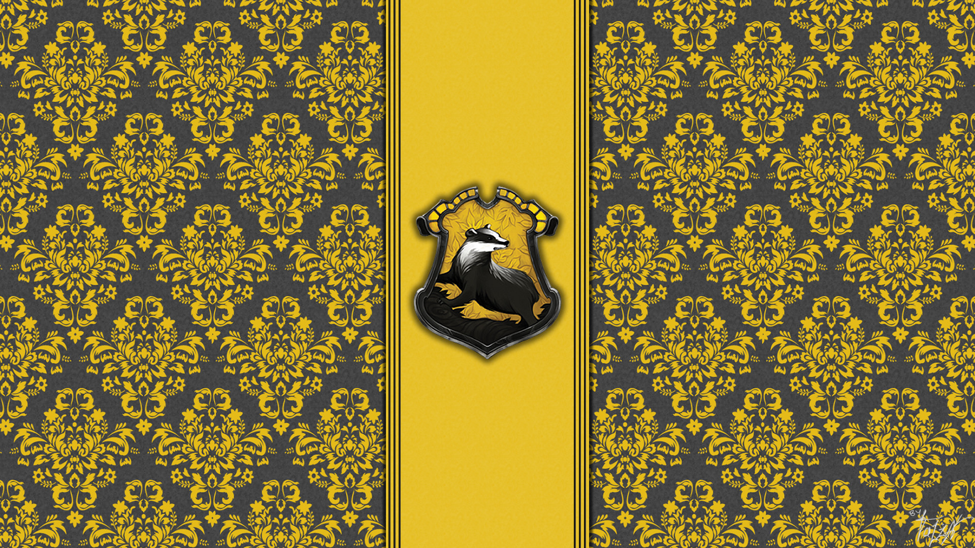 House hufflepuff wallpaper hogwarts paper art theladyavatar | Harry Potter  | Pinterest | Colors, Paper and Desktop wallpapers