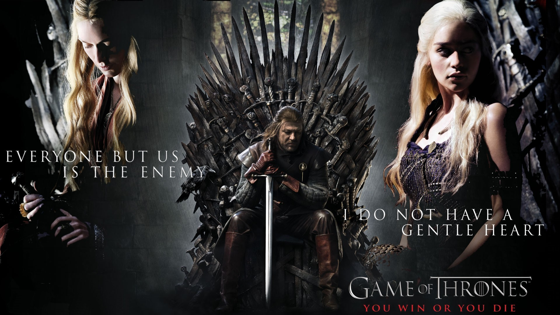 Lannister, Stark and Targaryen GOT Wallpaper