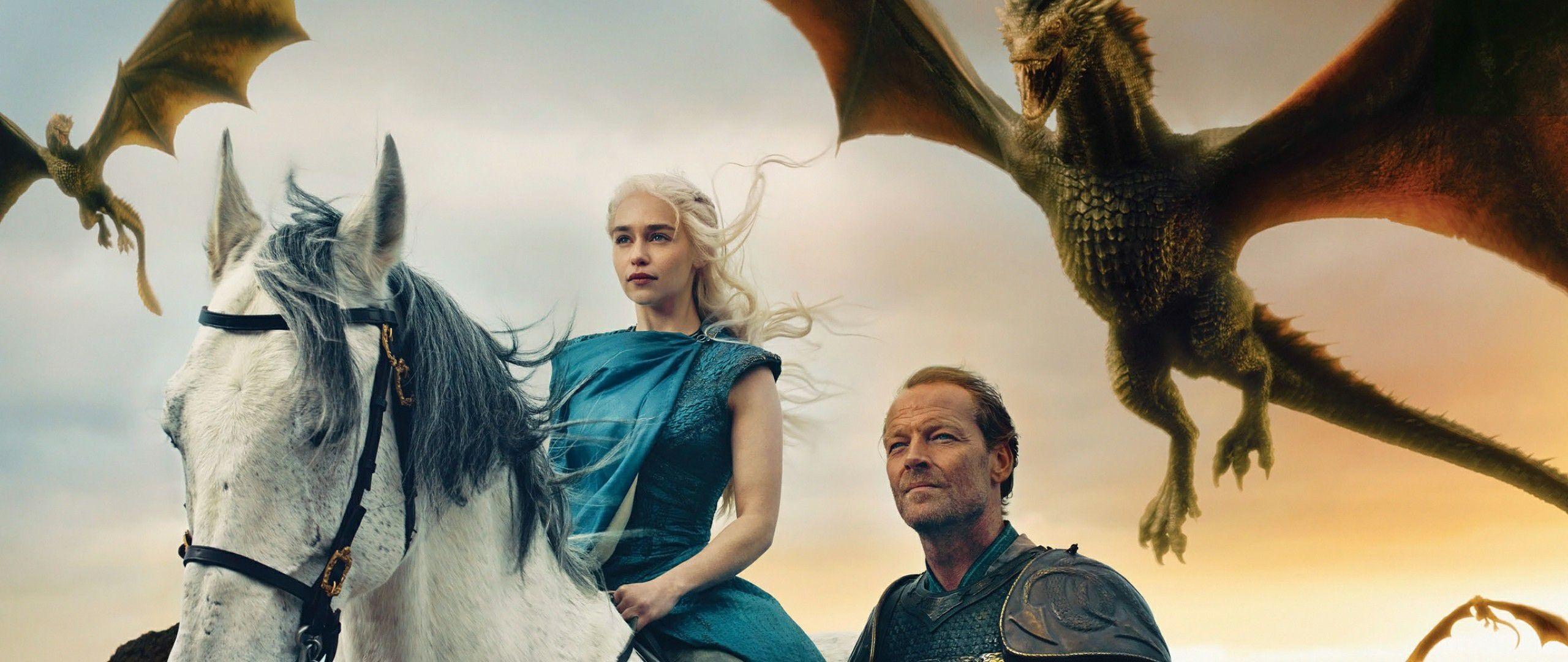 game of thrones season daenerys targaryen and jorah mormont wallpaper