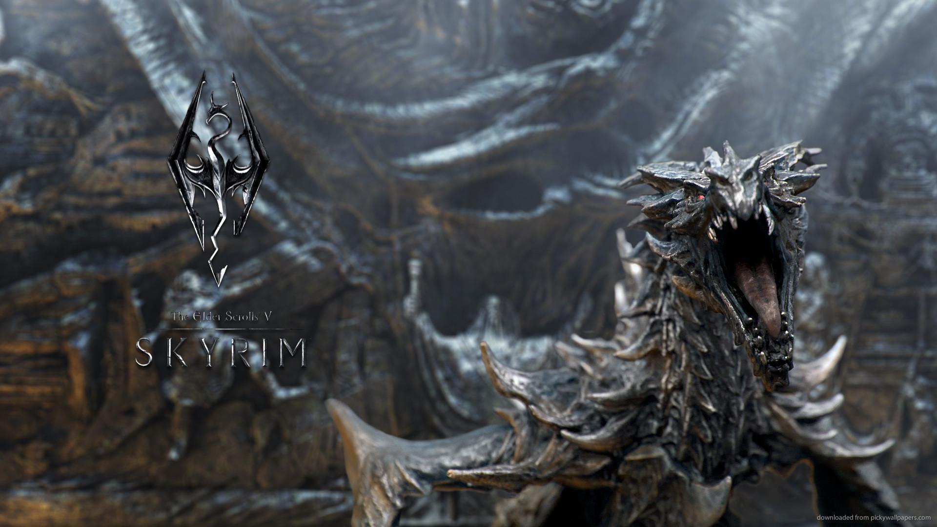 TES5 Skyrim dragon picture