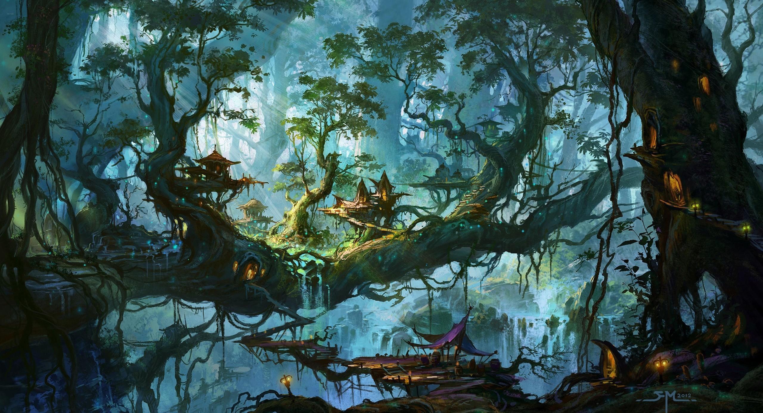 HD Wallpaper | Background ID:676334. Fantasy Forest. 35 Like.  Favorite