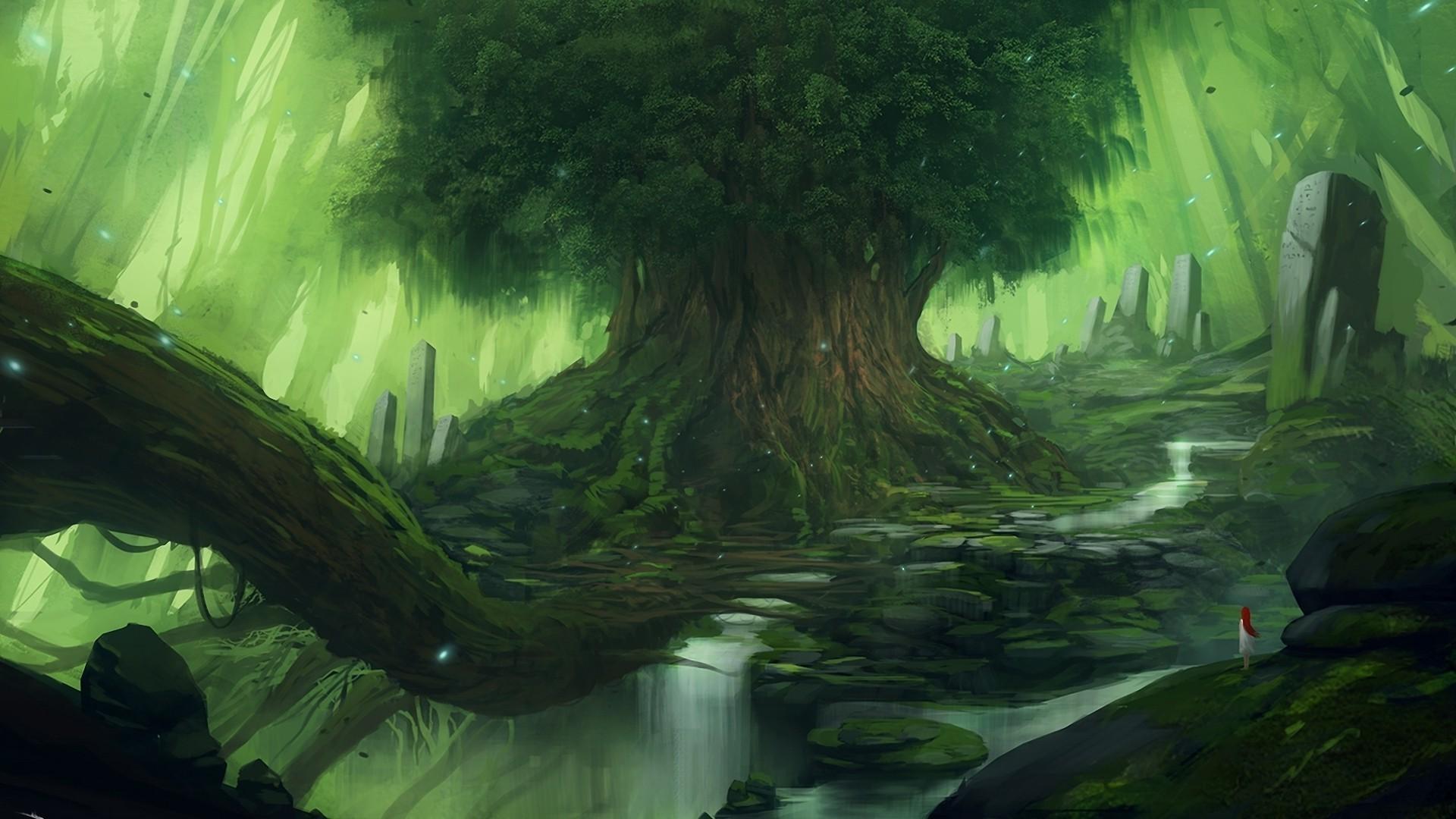 Fantasy Forest Wallpaper (1)