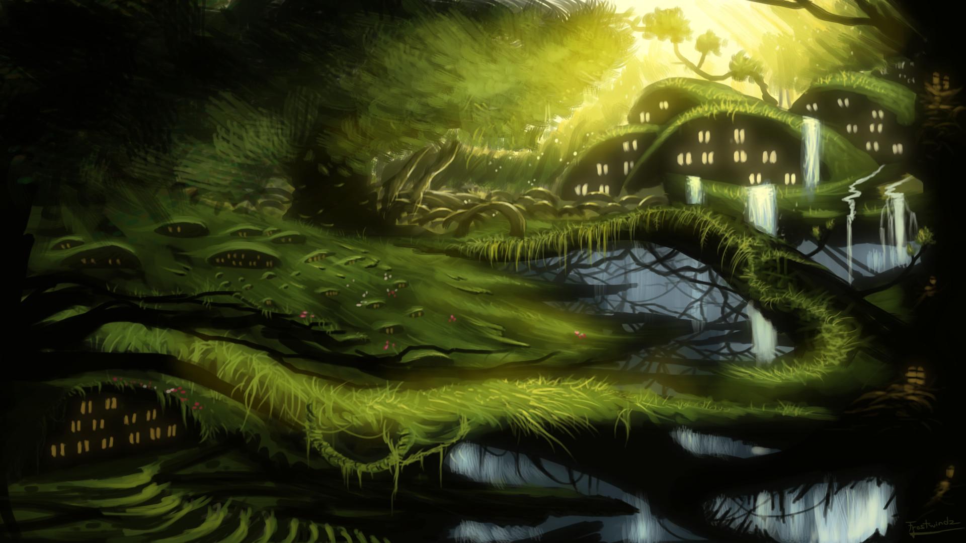 Fantasy Forest Landscape Wallpaper …