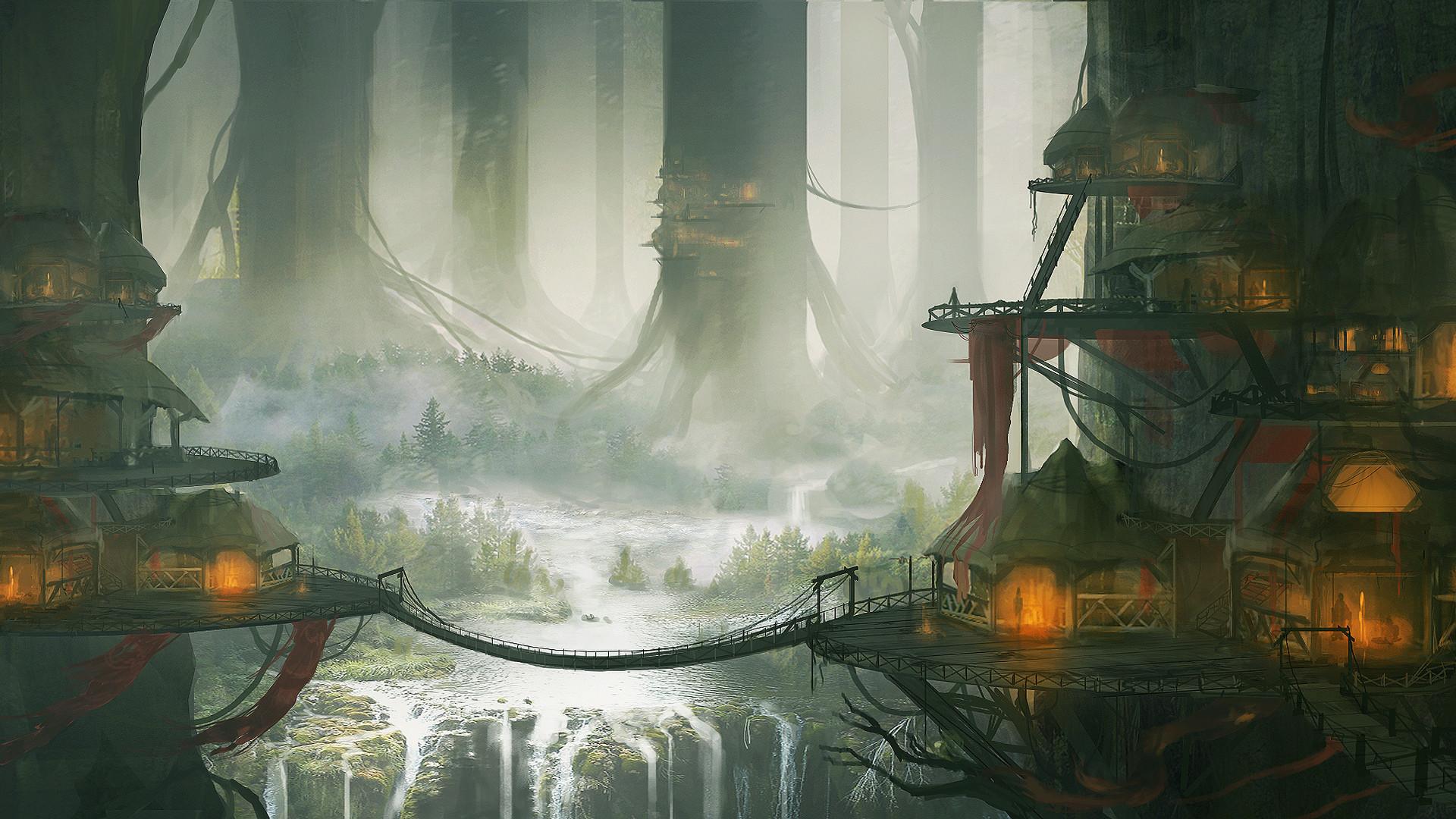 Fantasy Forest Landscape Wallpaper 2014 HD
