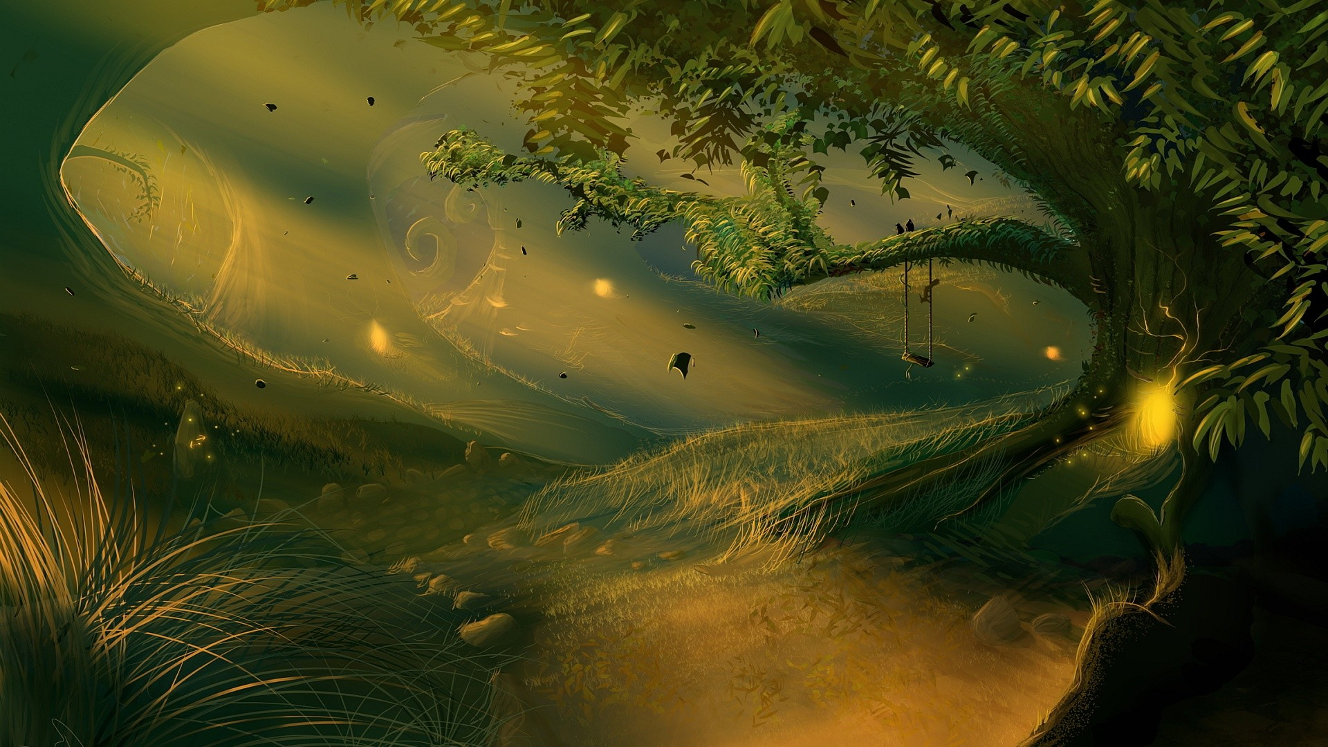 Fantasy Forest Backgrounds | wallpapers scenery wallpaper qsmejk green fantasy  forest landscope