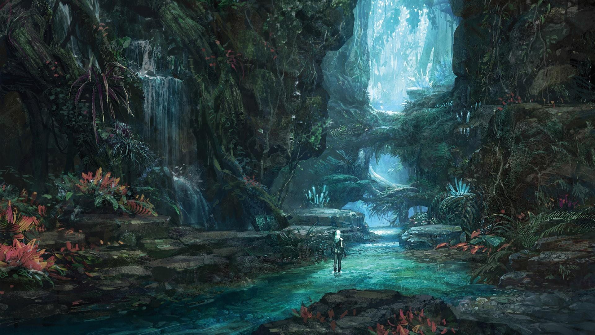 Fantasy Landscape: Forest -All credit to the original artist-