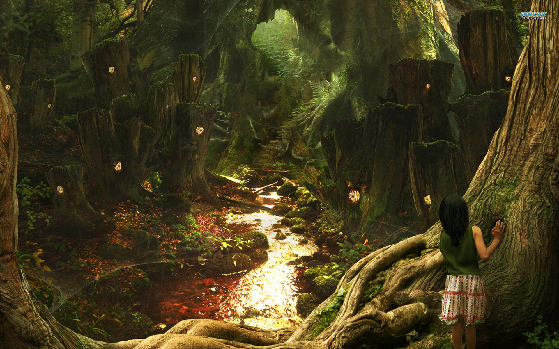Explore Fantasy Forest, Magic Forest, and more! oak forest wallpaper
