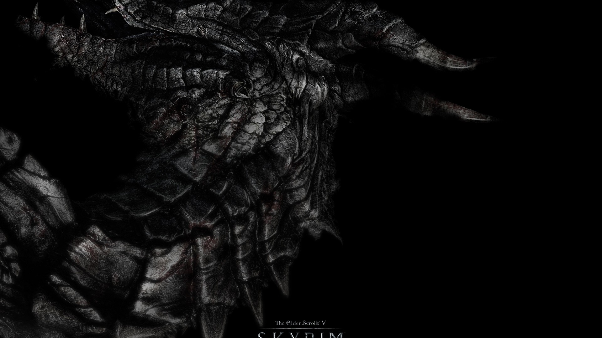 Preview wallpaper dragon, skyrim, the elder scrolls v skyrim 1920×1080