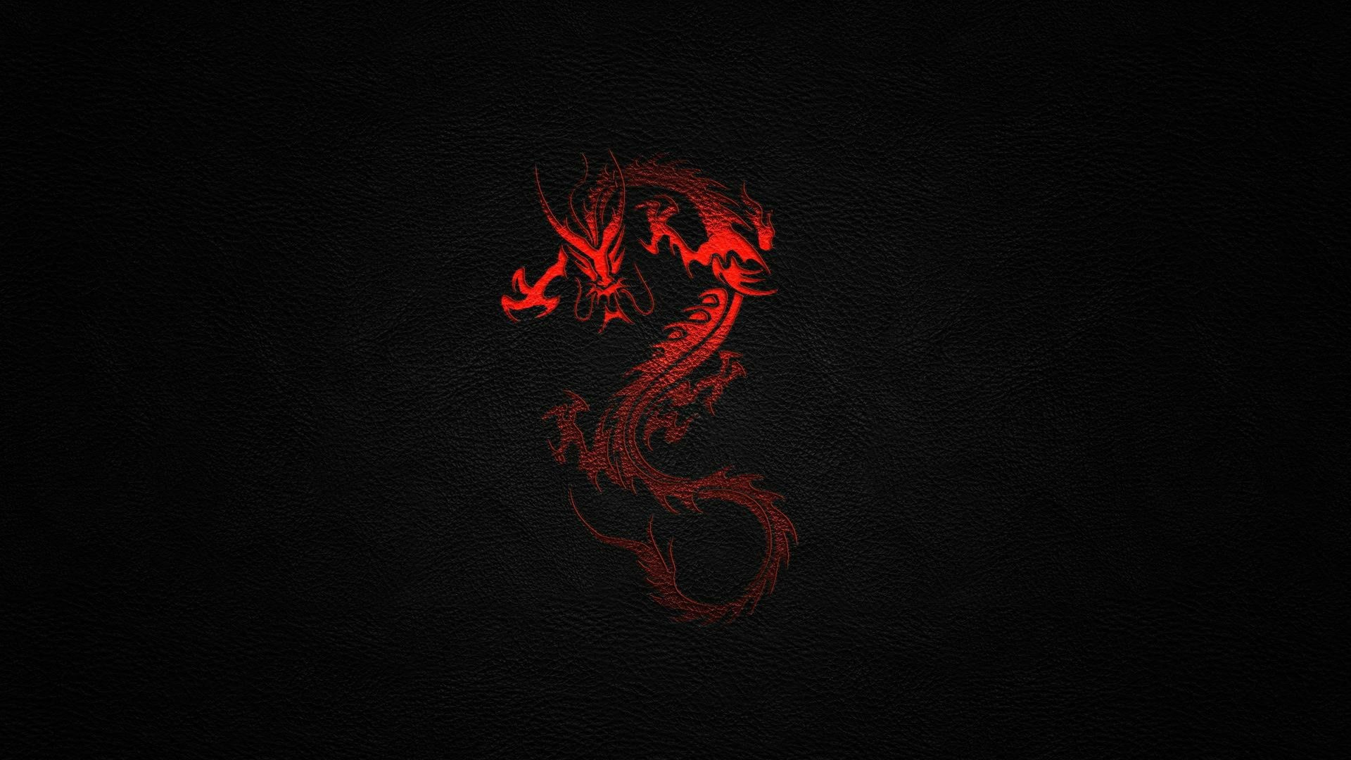 Black red dragon desktop wallpaper