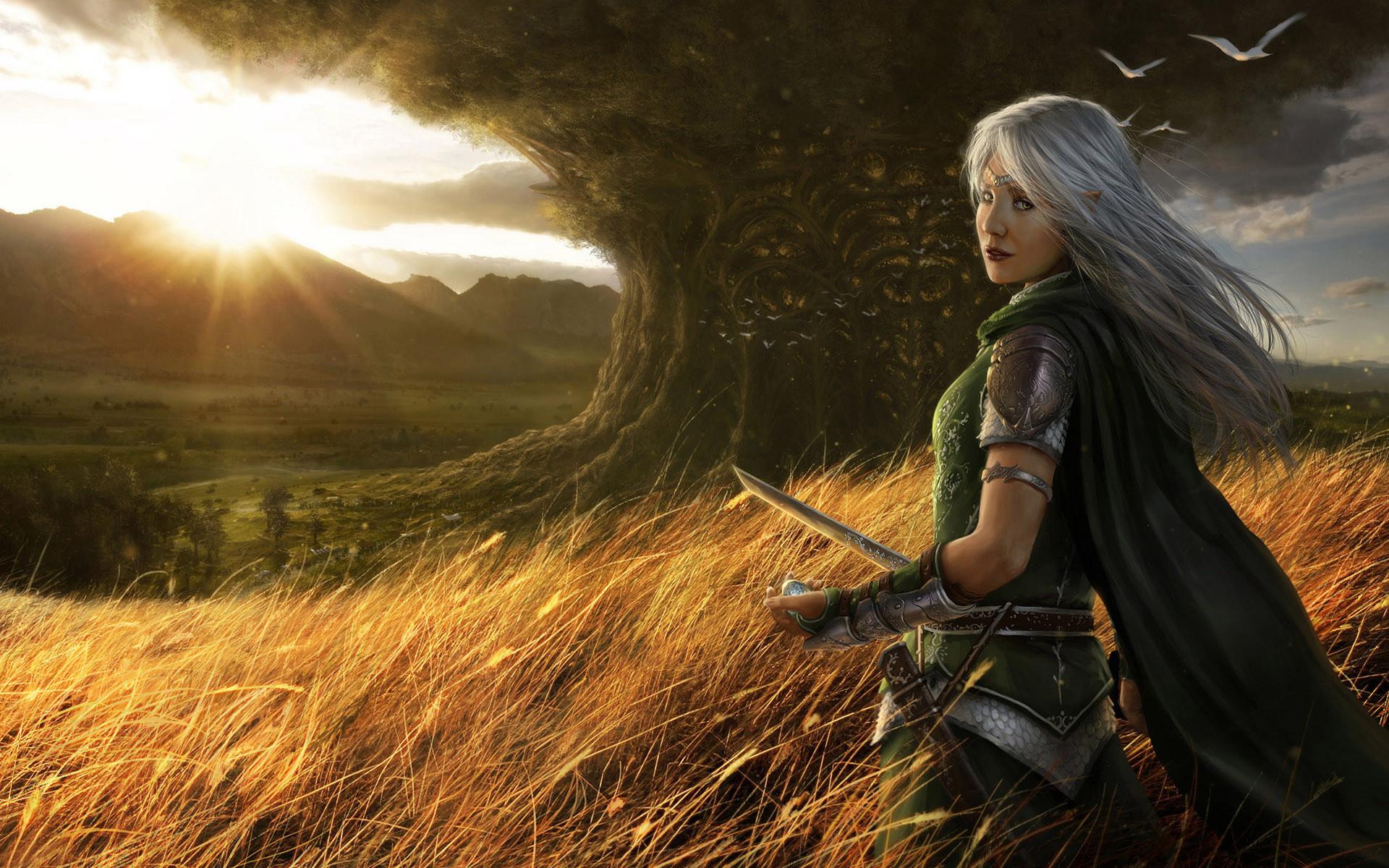 Fantasy Wallpaper Women HD Desktop | Back, woman, fantasy, wallpapers,  warrior (