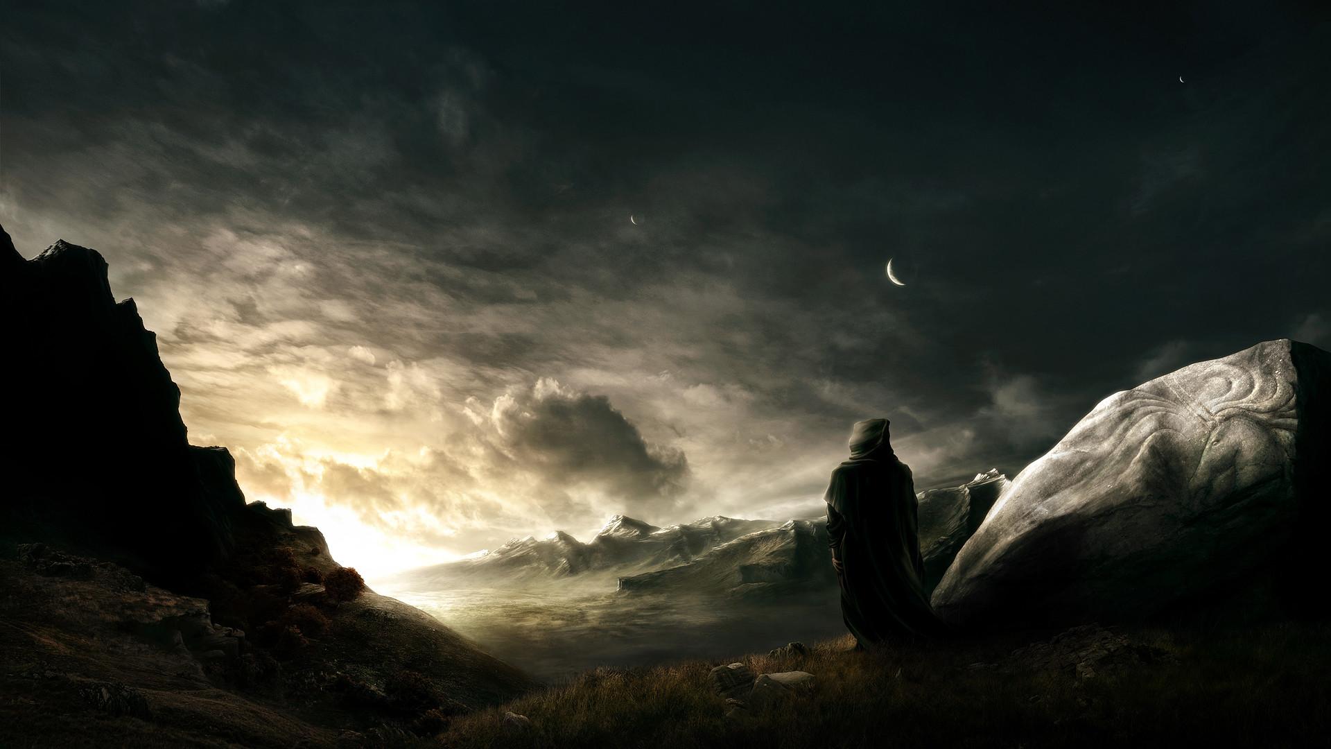 Fantasy – Landscape – Wanderer – Fantasy Warior – Fantasy Wallpaper