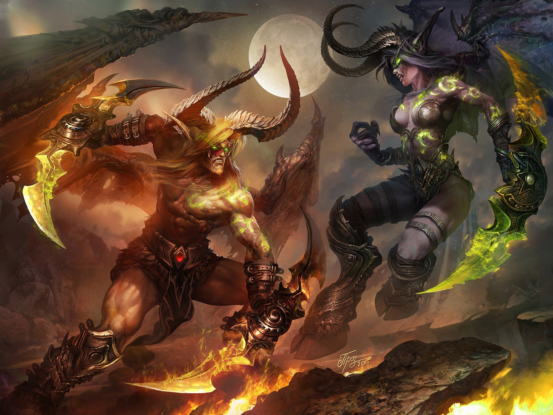 General Demon Hunter Warcraft Blood Elf Night Elves World of  Warcraft