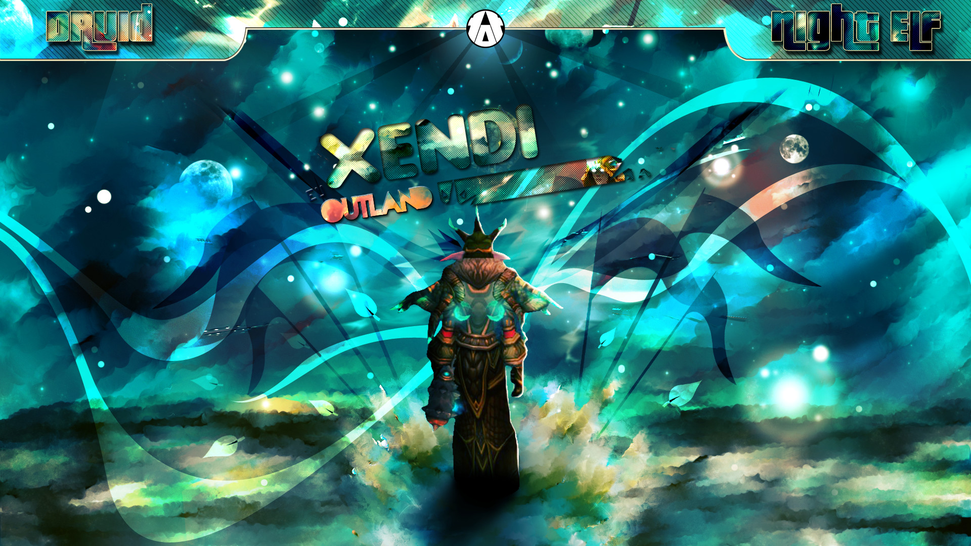 Druid Night Elf Wallpaper by Aynoe Druid Night Elf Wallpaper by Aynoe