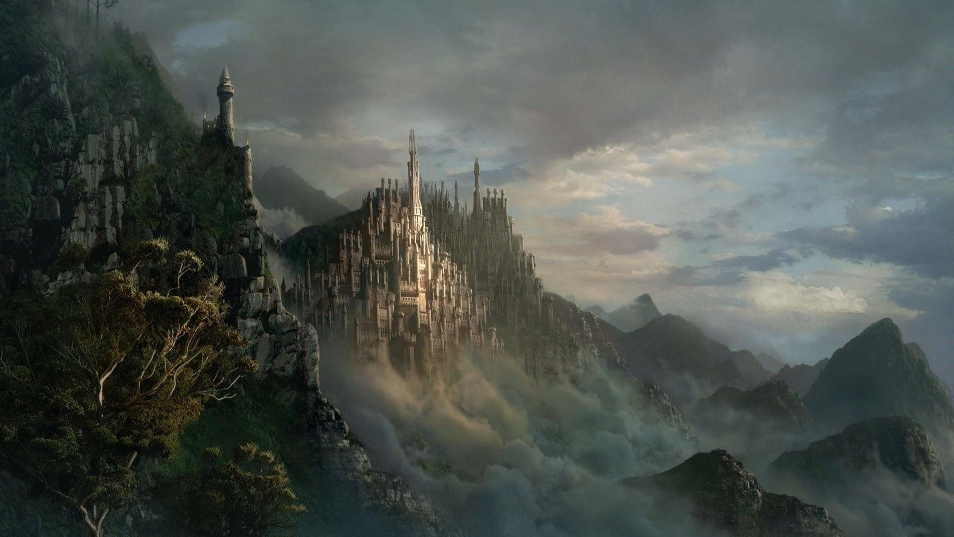 Wallpapers For > Fantasy Castle Backgrounds
