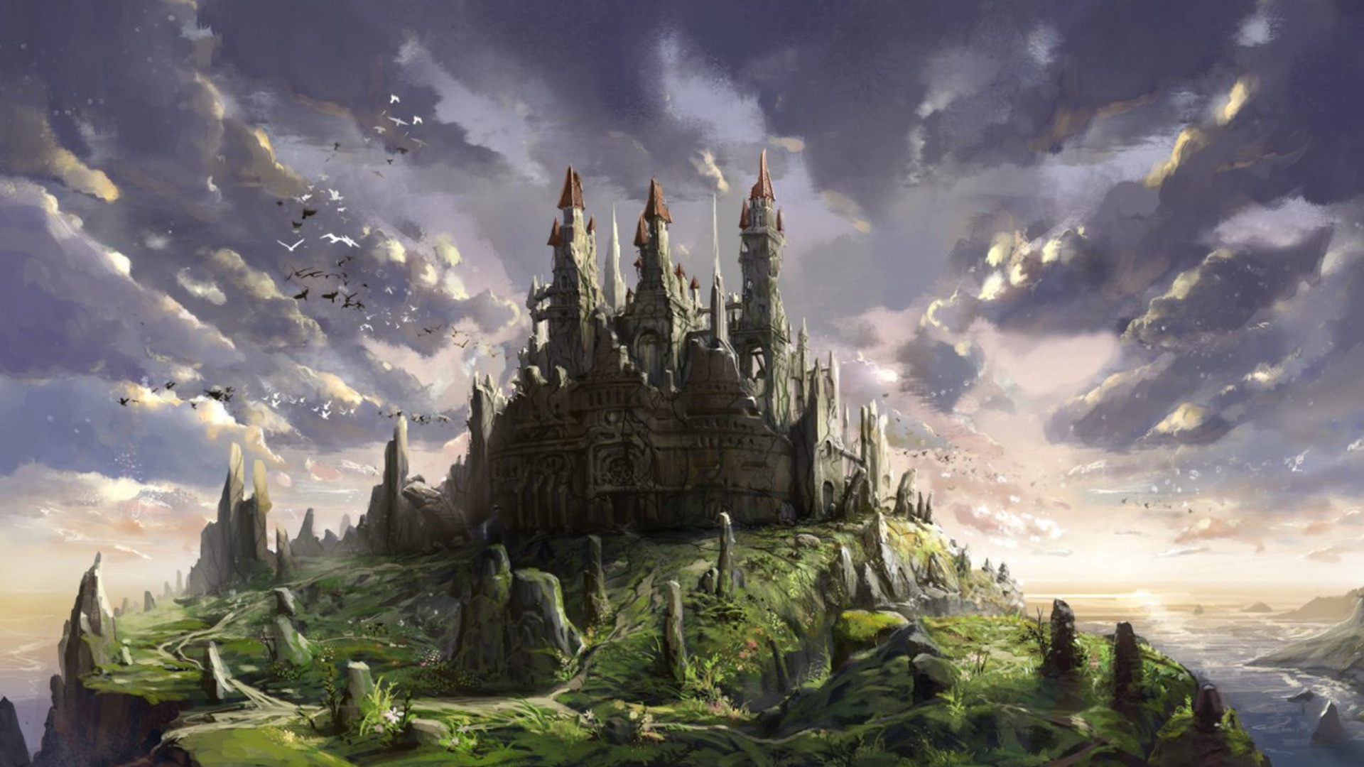 Fantasy Castle Wallpaper Free With Wallpapers Wide Resolution px  418.51 KB