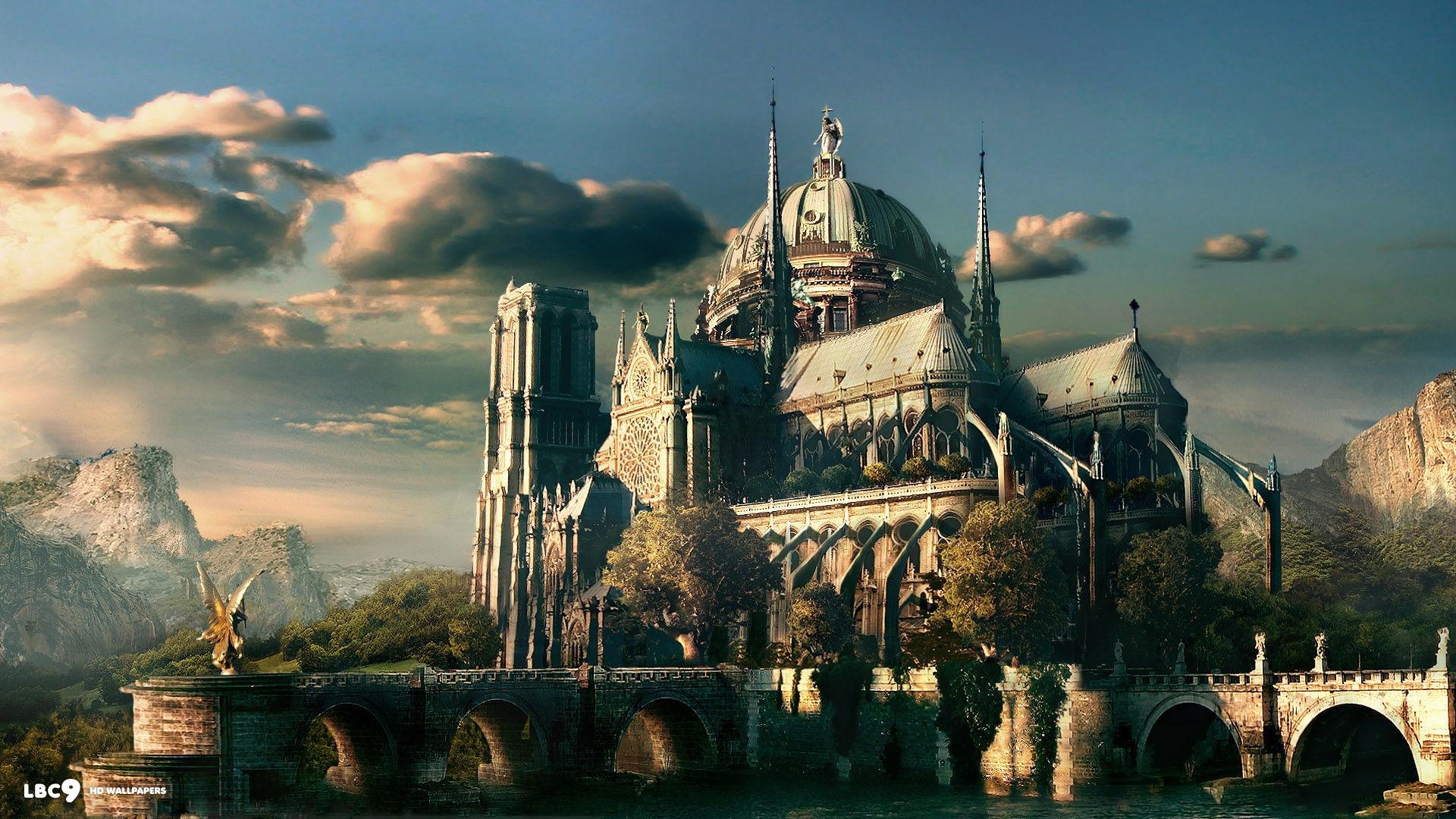 fantasy castle 1920×1080