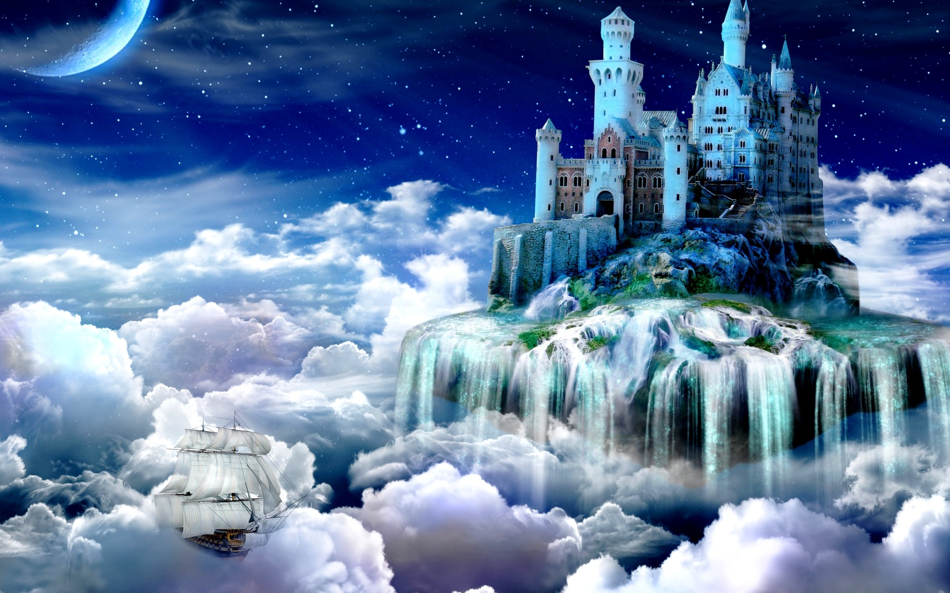 Favourite Nature Fairy Tail Tale Castle Wallpaper