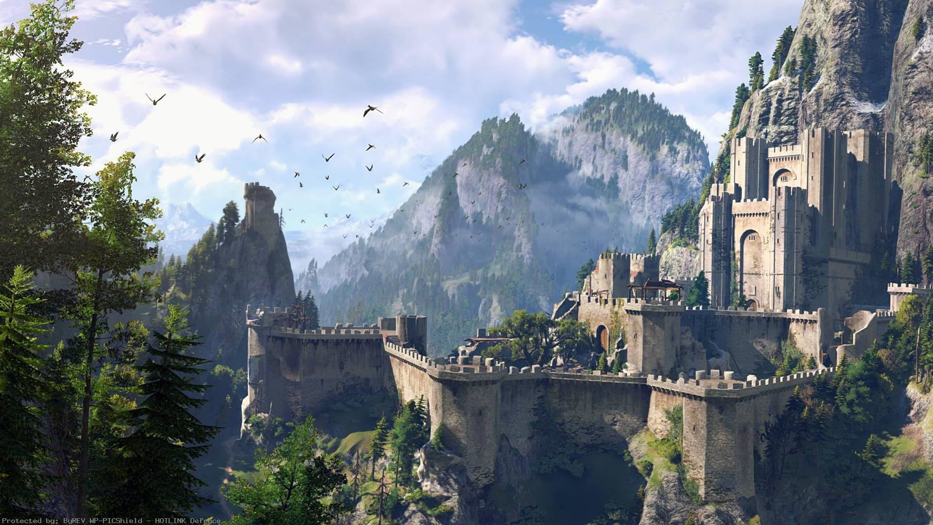 The-Witcher-Wild-Hunt-HD-Game-Fantasy-Castle-