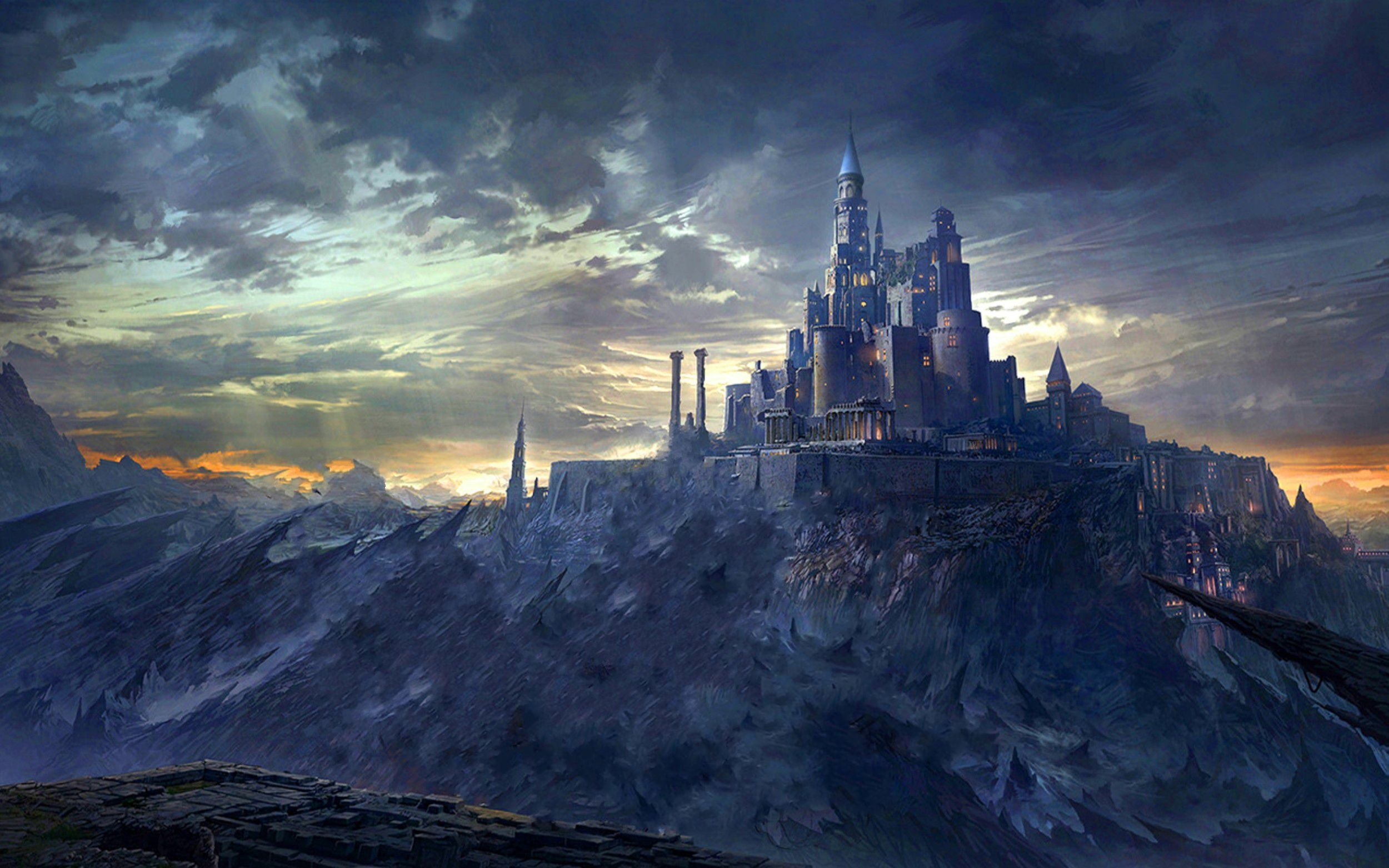 Image for Fantasy Mountain Castles Wallpaper Free HD