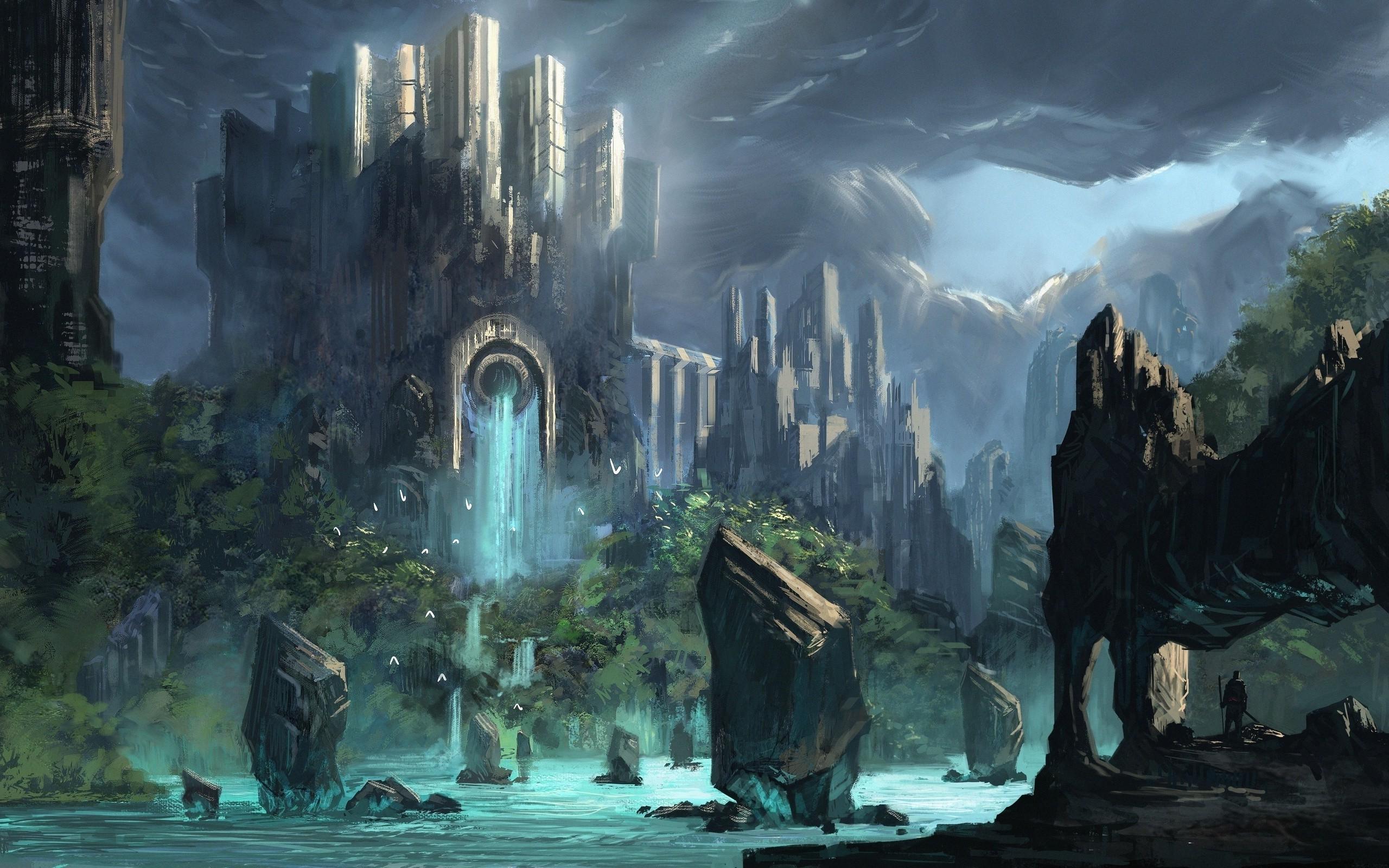 fantasy Art, Castle Wallpaper HD