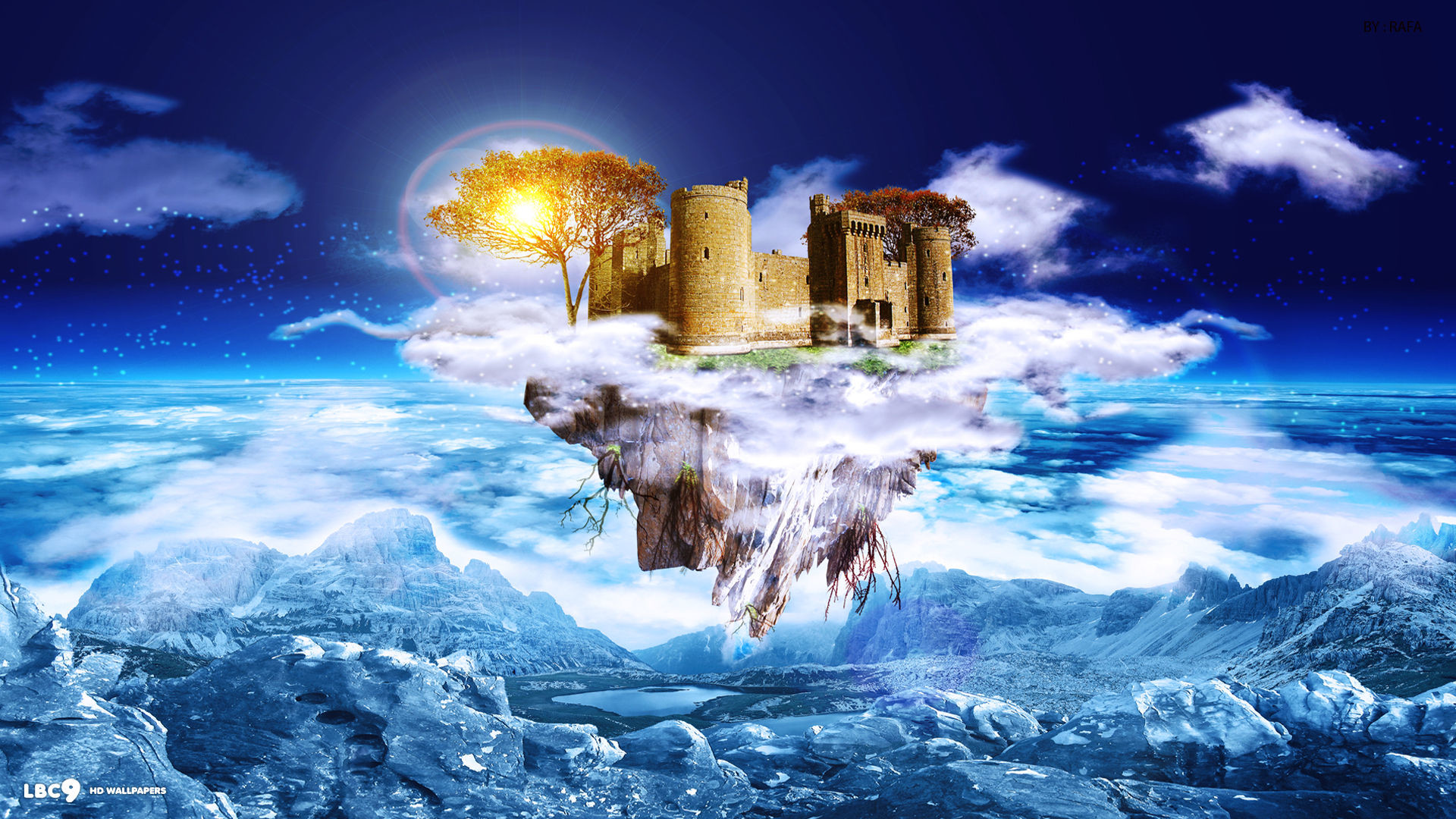 digital art dream castle