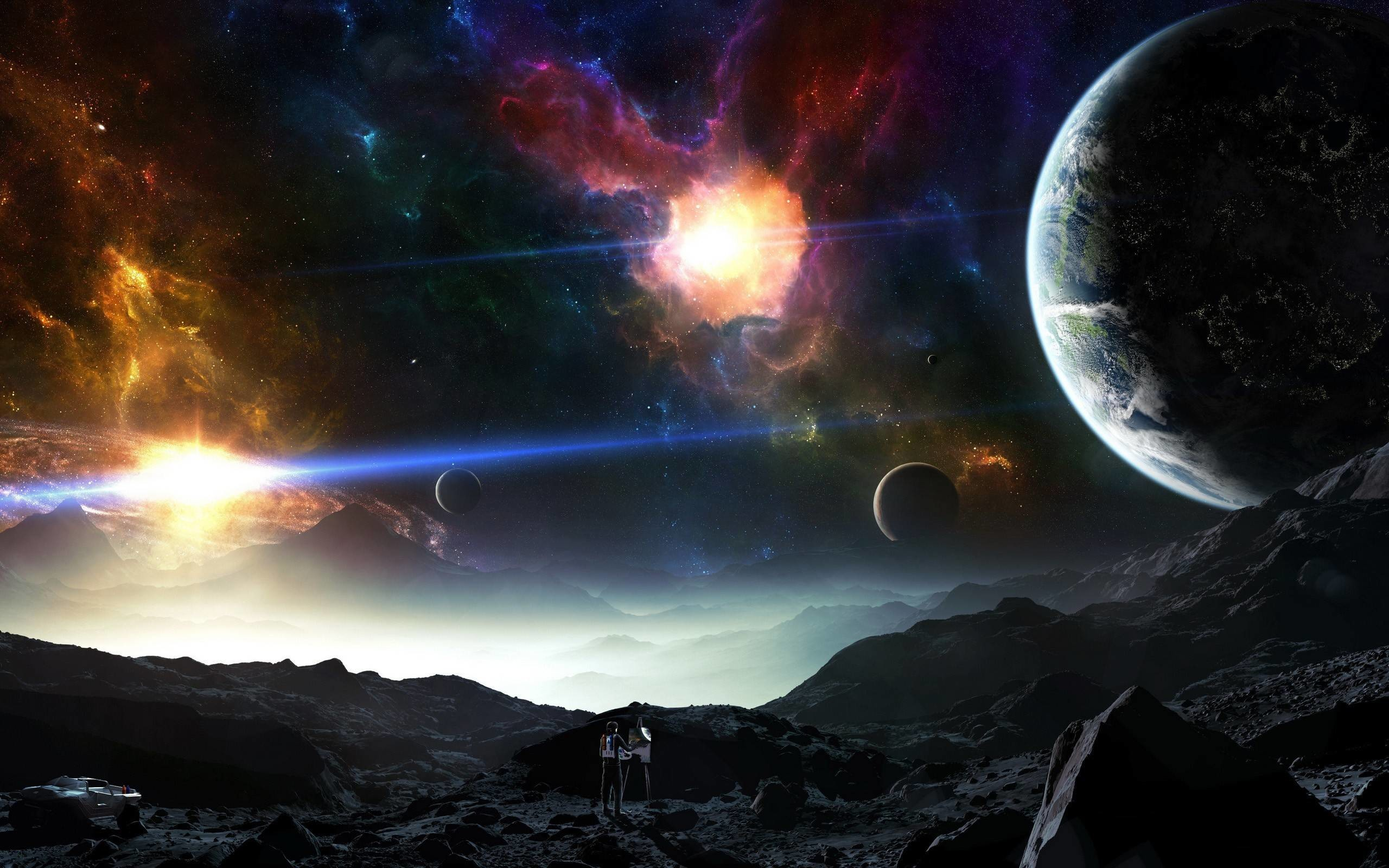 Fantasy Planets Land Worlds Universe Space wallpaper #