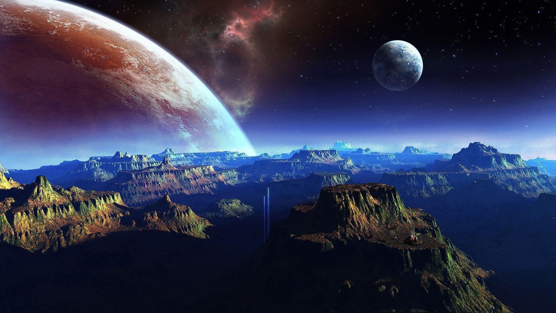 Fantasy planet space art Wallpaper