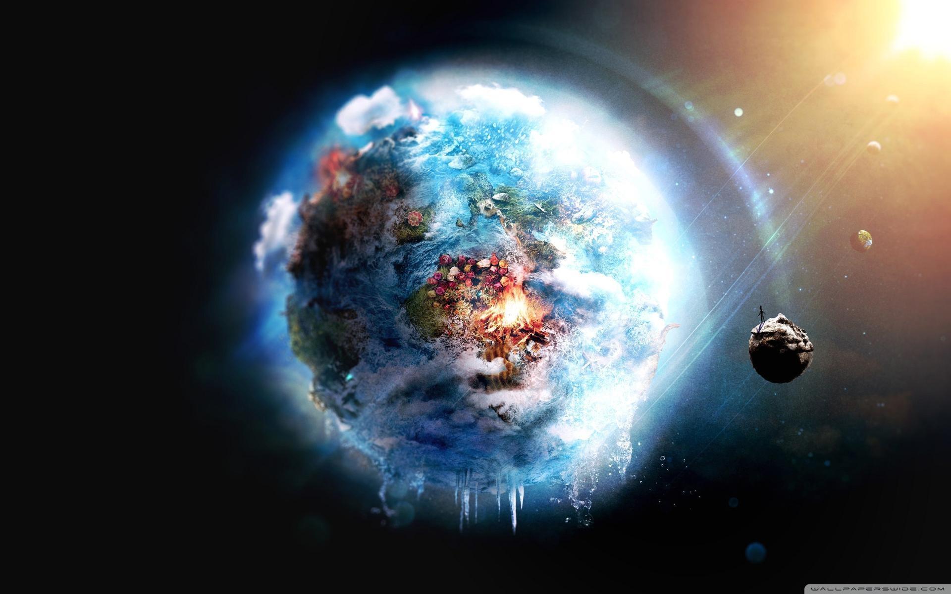 Wallpaper fantasy planet