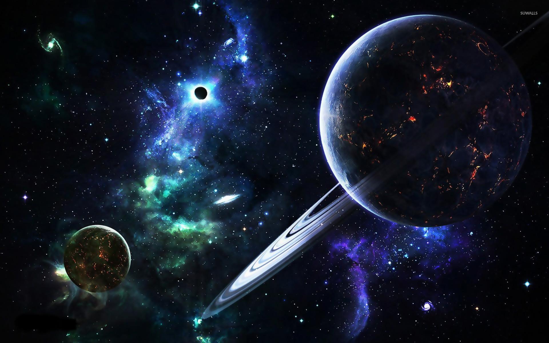 Planets and galaxies wallpaper – Fantasy wallpapers –