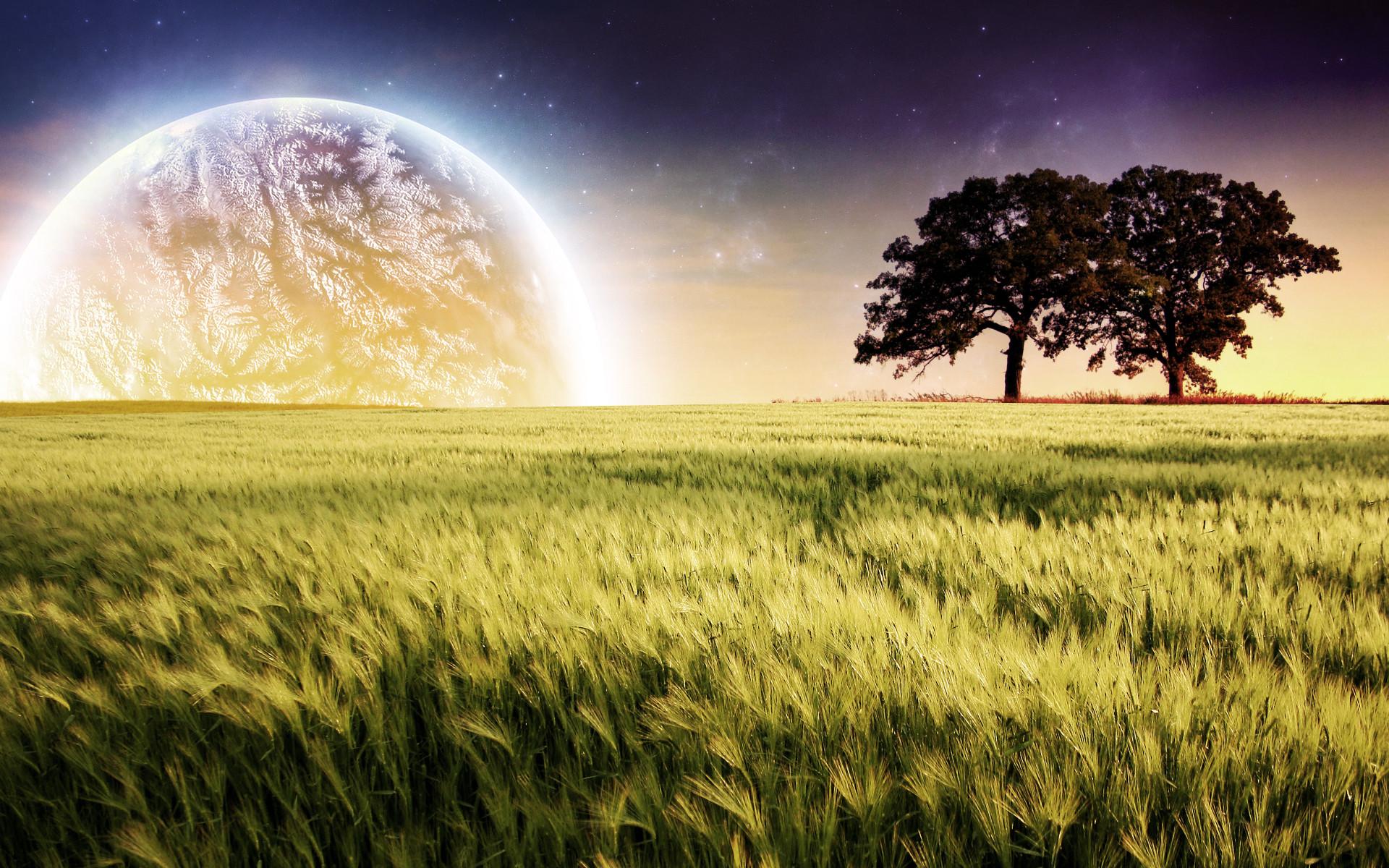 Planet Farm Trees Landscape