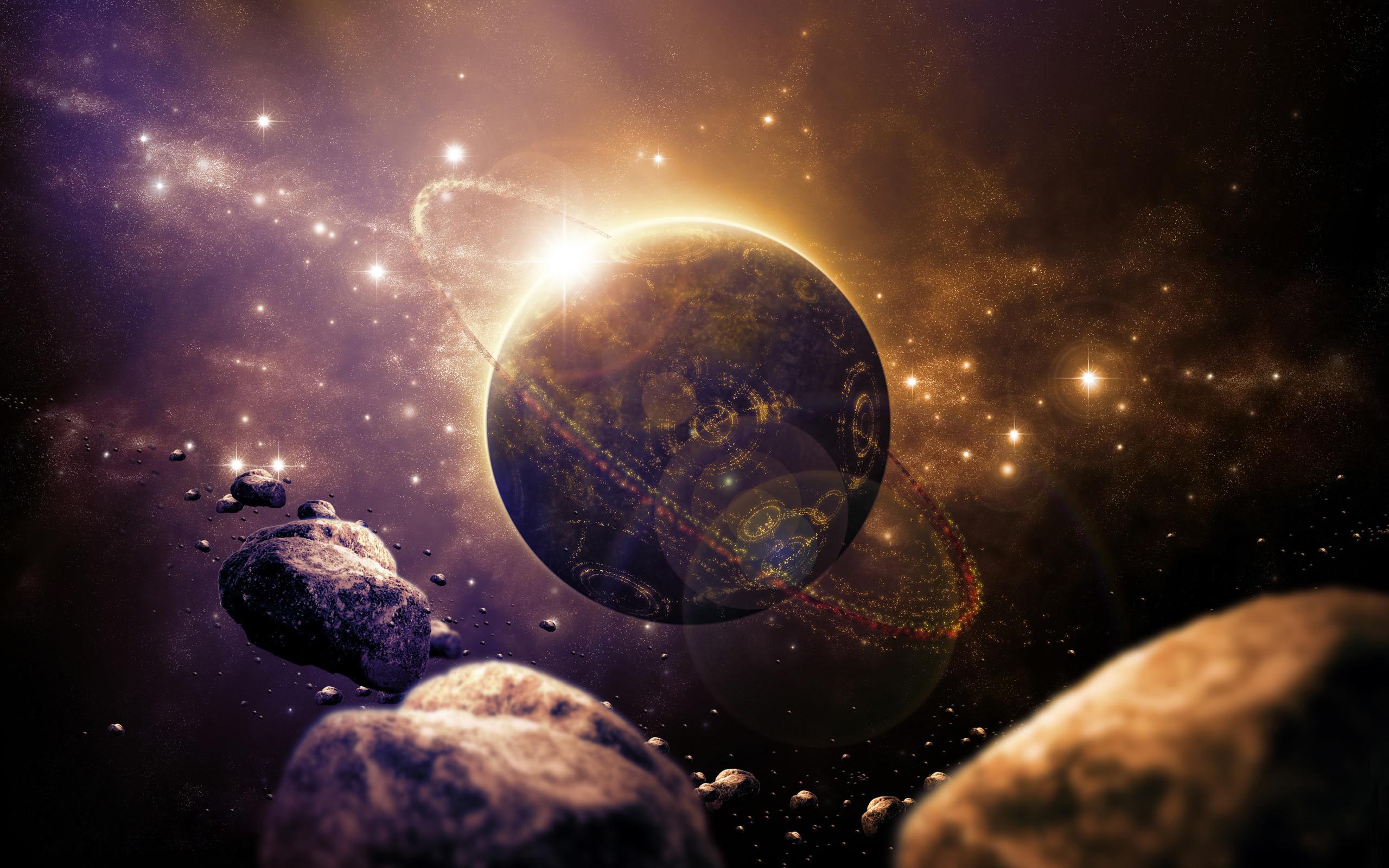 1920×1200 fiery ring planet
