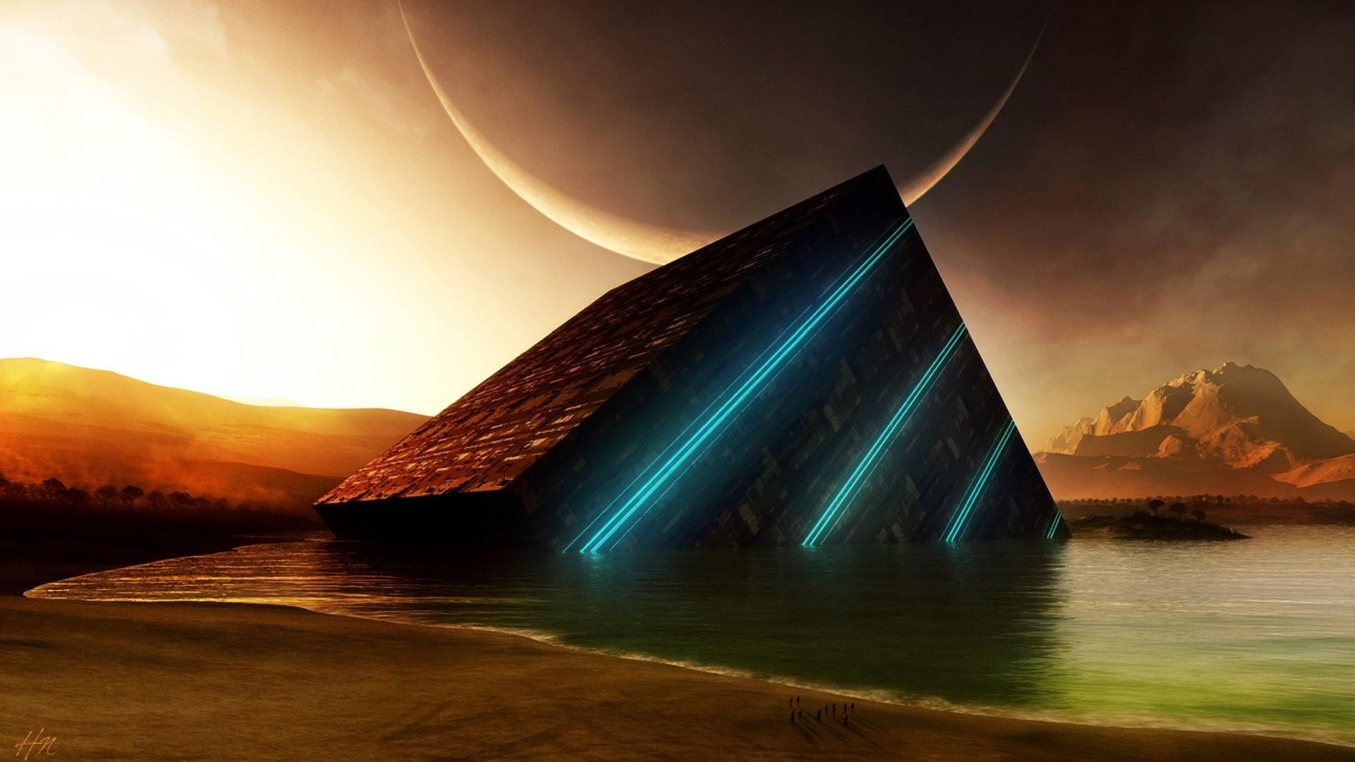 Artwork Fantasy Art Sea Beaches Mountains Planets