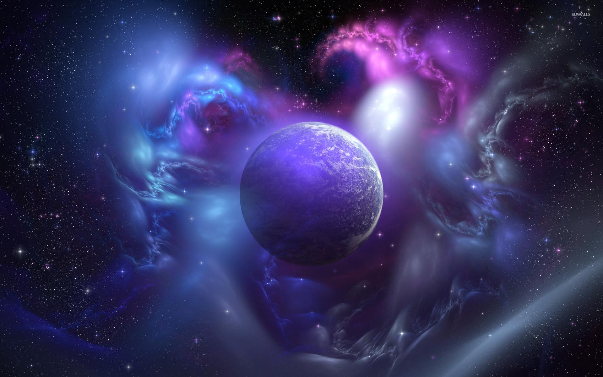 Nebula and planet wallpaper jpg