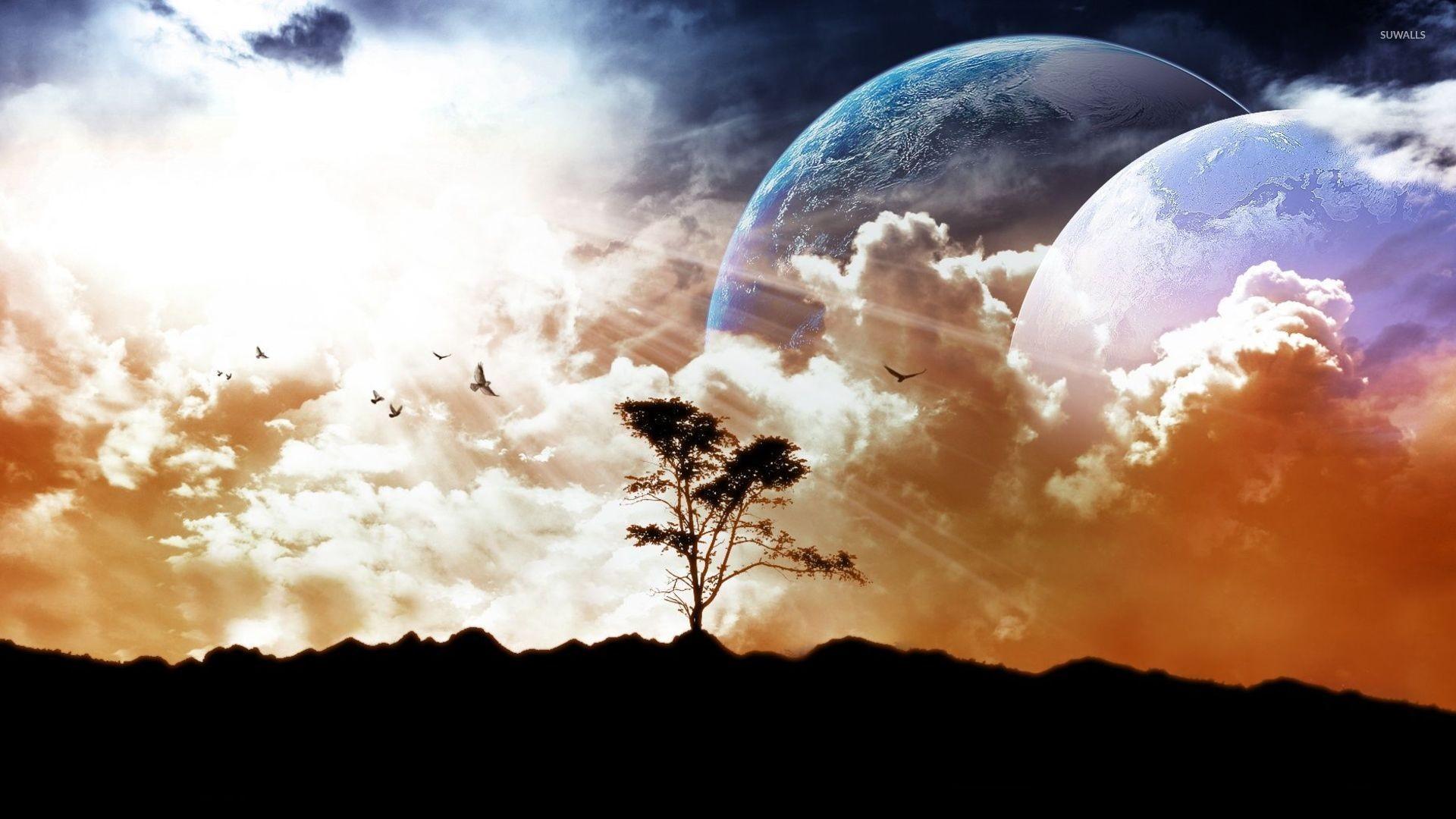Two planets wallpaper jpg