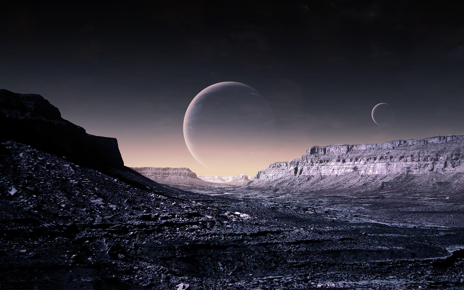 Fantasy planet surface