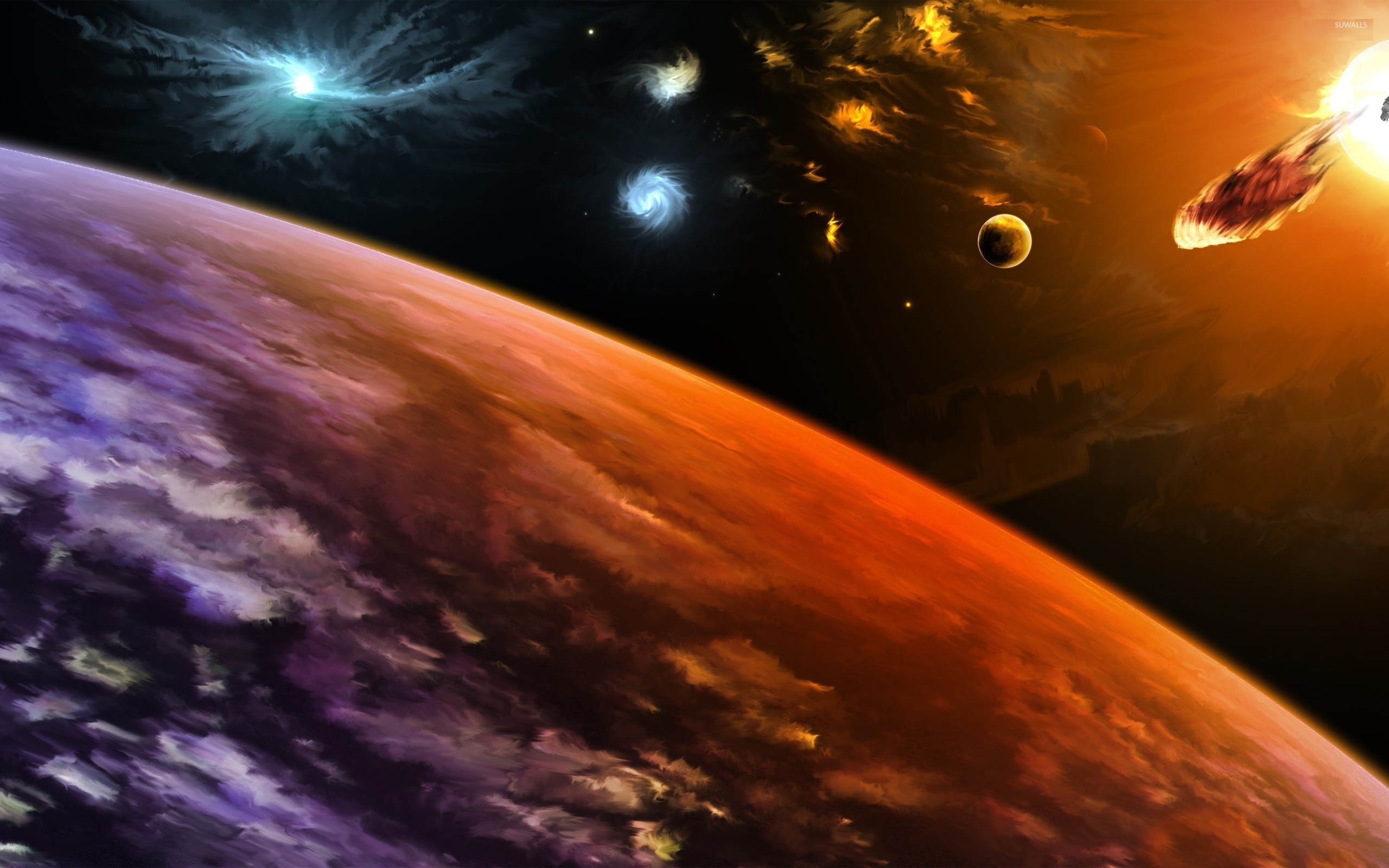 Planets hit by asteroids [3] wallpaper