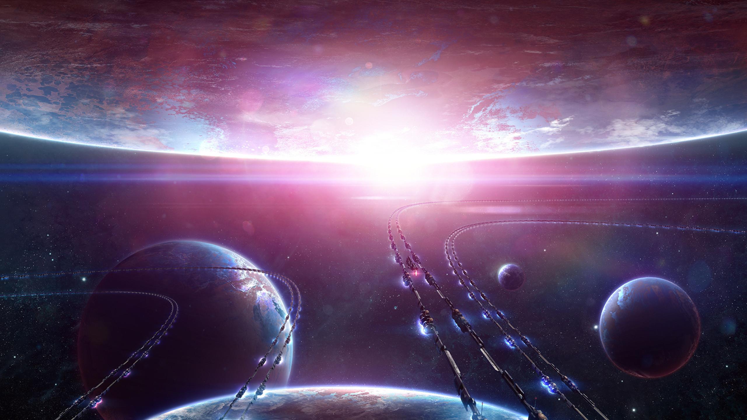 Images Planets Space Fantasy Technics Fantasy 2560×1440