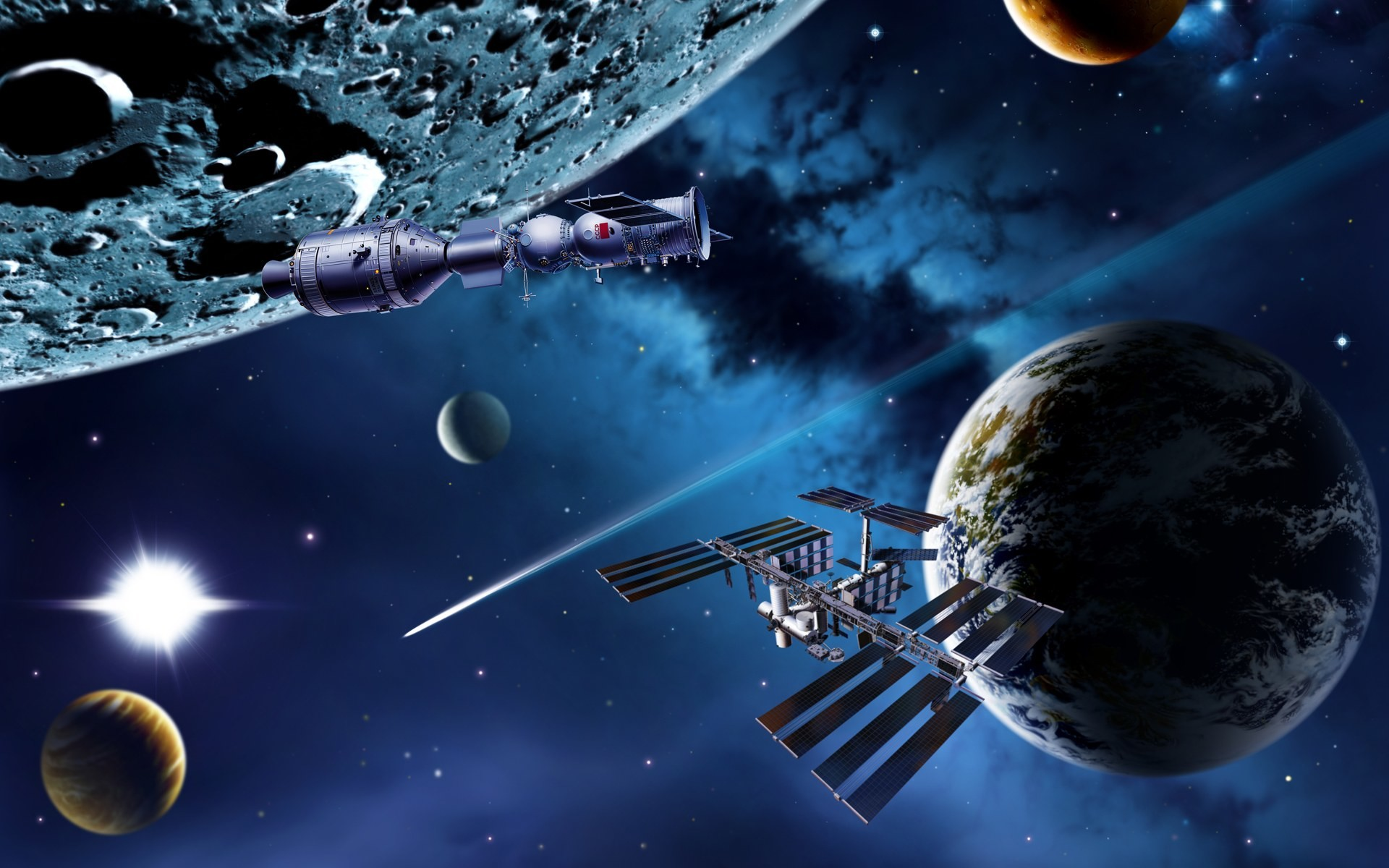 galaxy planets 1 JPG. 1920×1200197457. fantasy space art wallpaper 1024×768  img25
