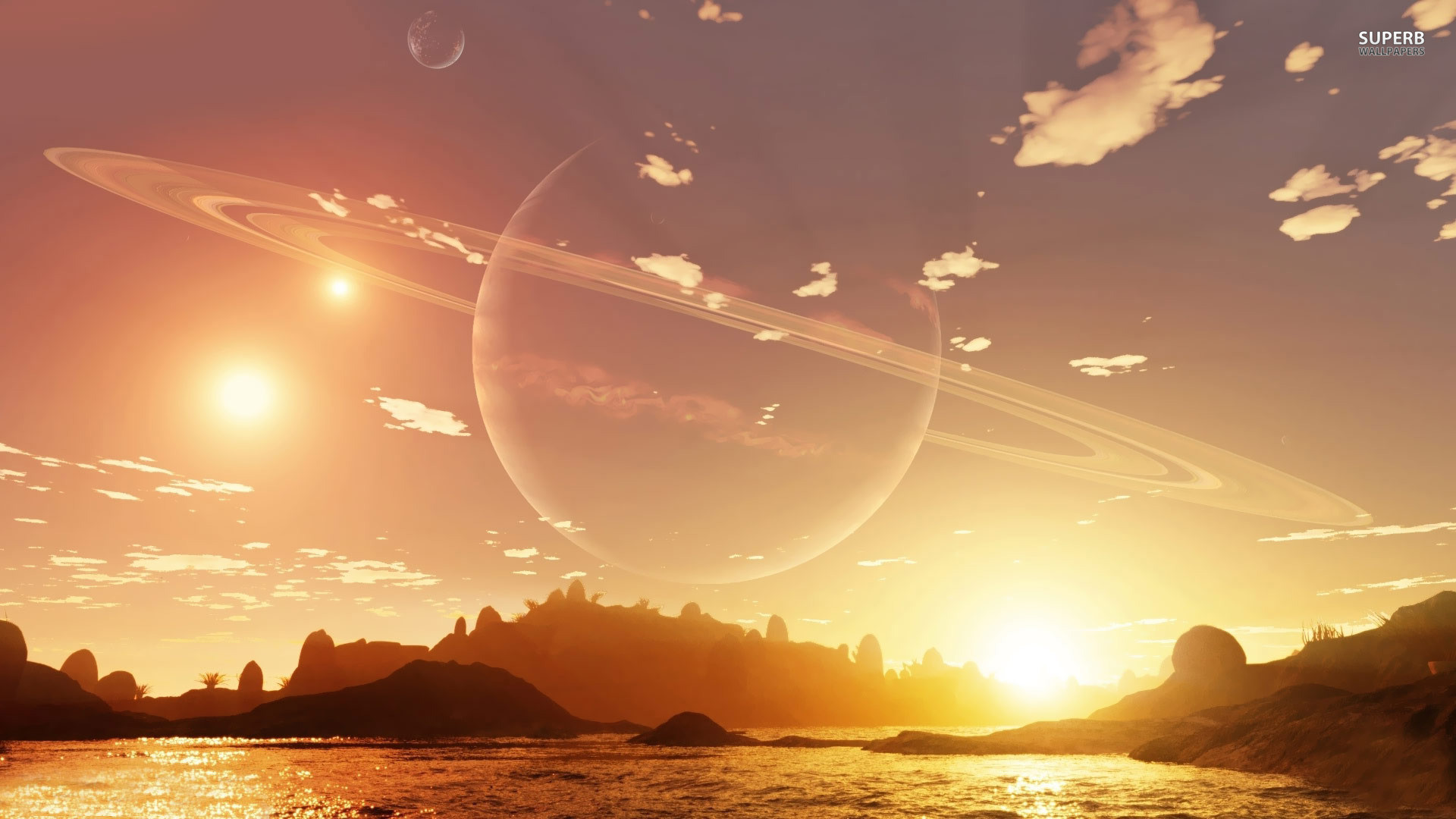 Planet in the sky during the day wallpaper – Fantasy wallpapers .