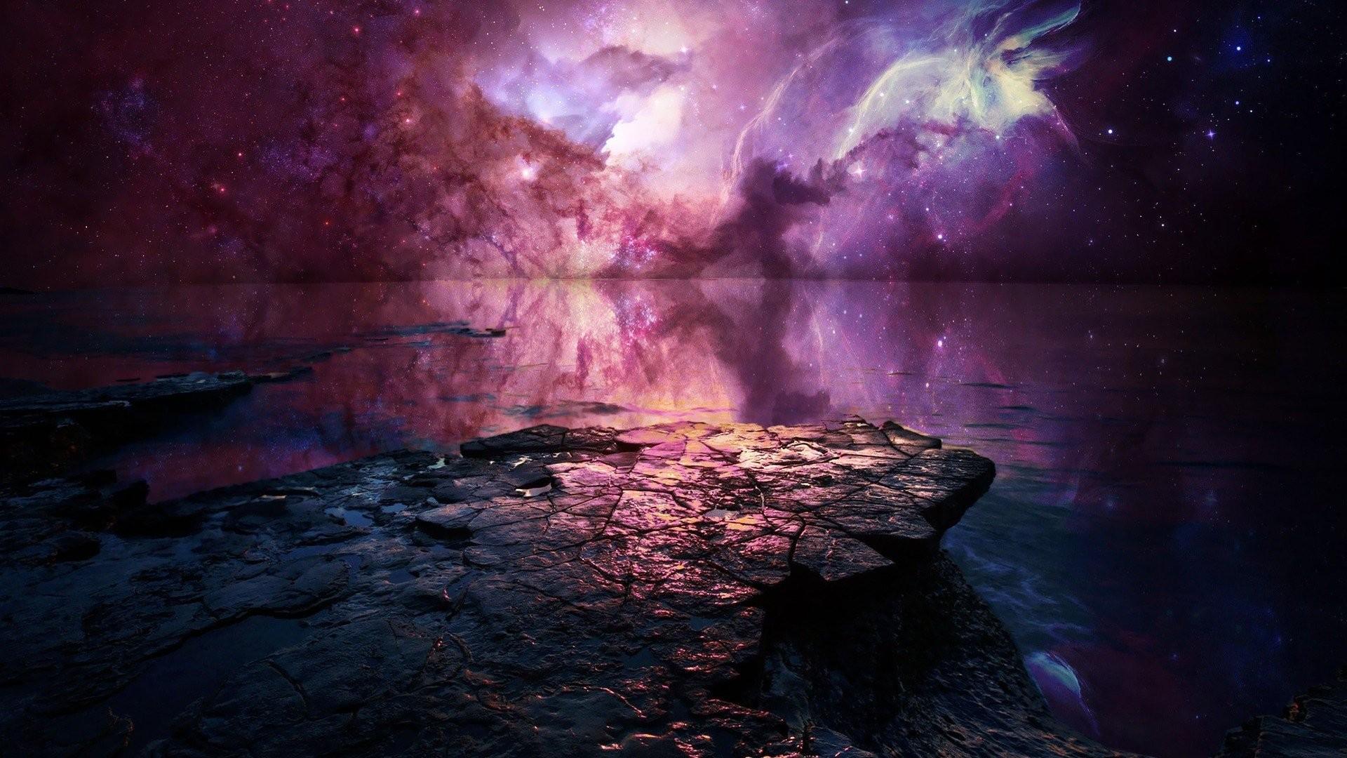 Artwork Fantasy Art Concept Science Fiction Planets Nebulae Skies Stars