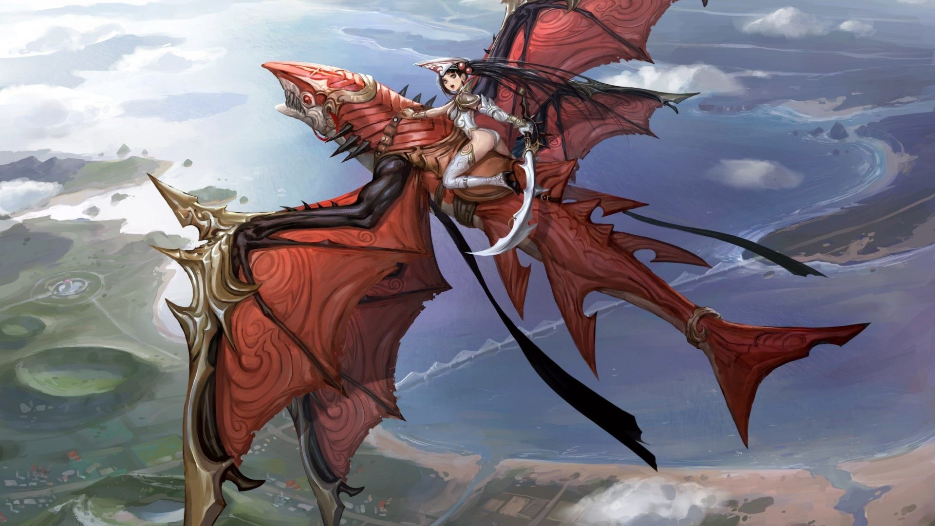 anime-dragon-flying-hd-wallpaper-[1920×1080] Need #iPhone