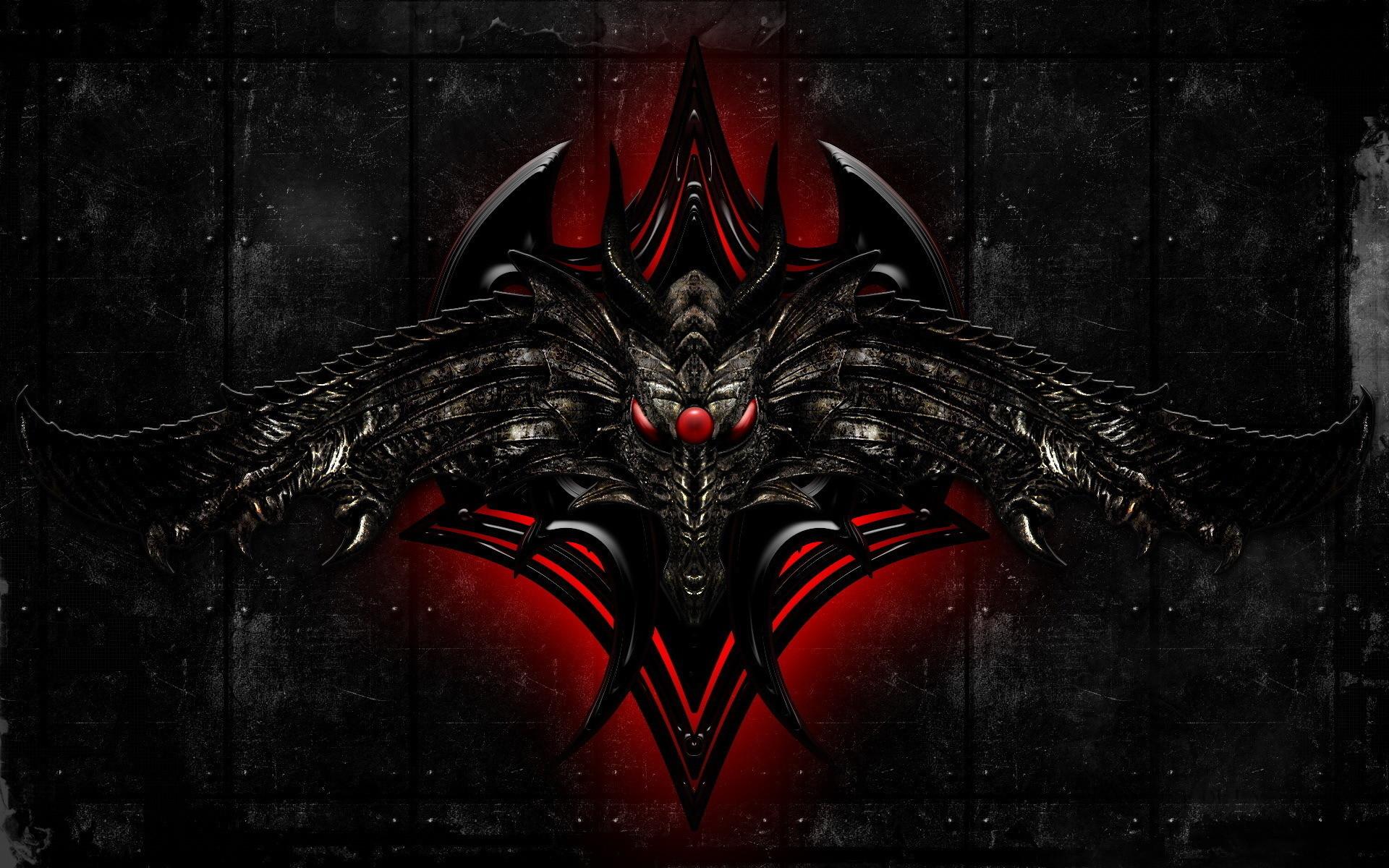 Dragon, 3d art, black, dragon, monster
