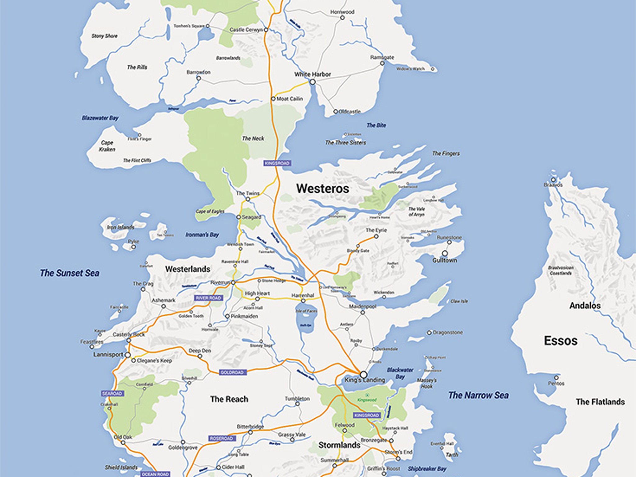 Game of Thrones' Westeros remade in Google Maps by Reddit user   The  Independent